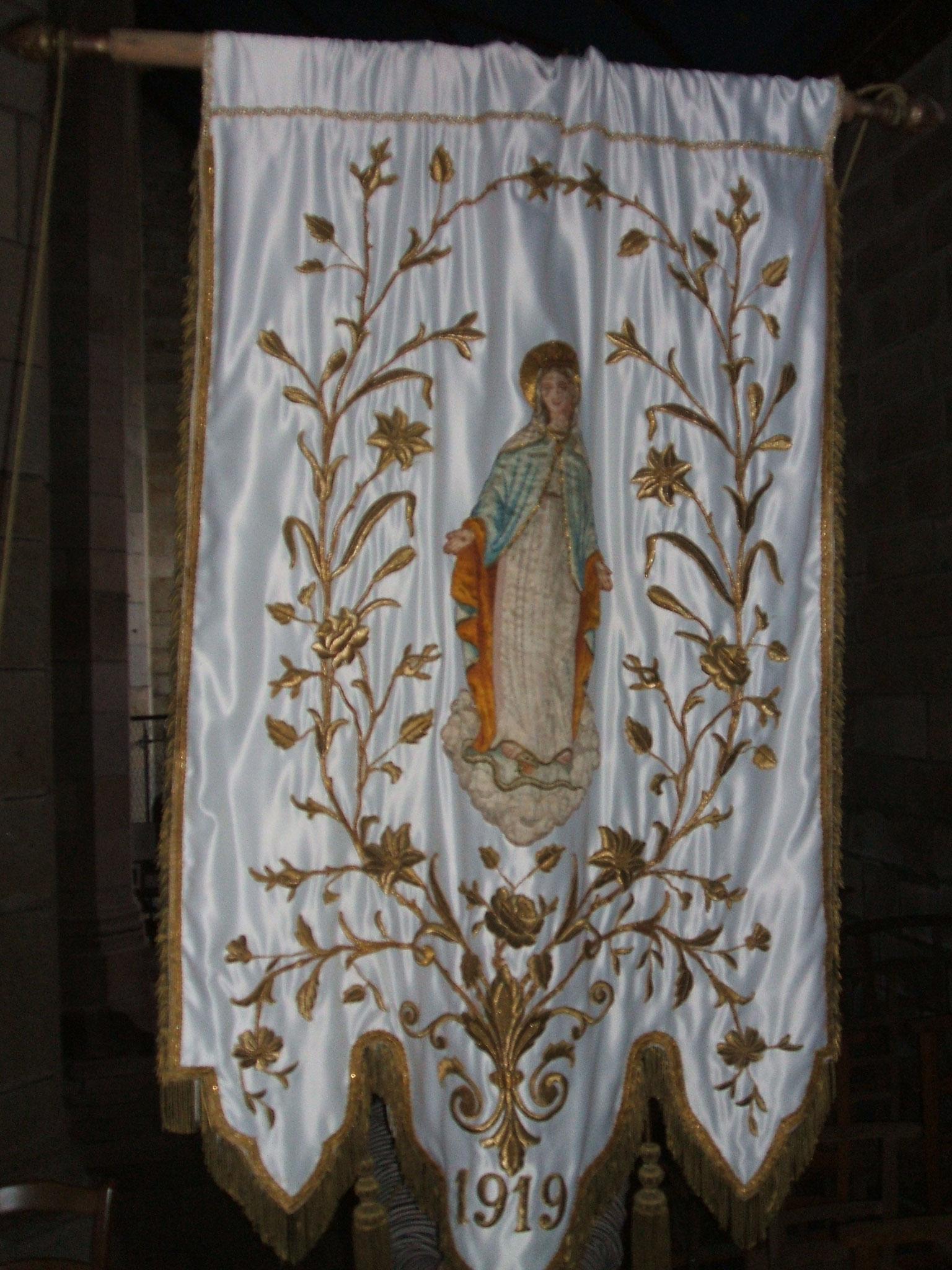 Bannière Vierge, 1919.