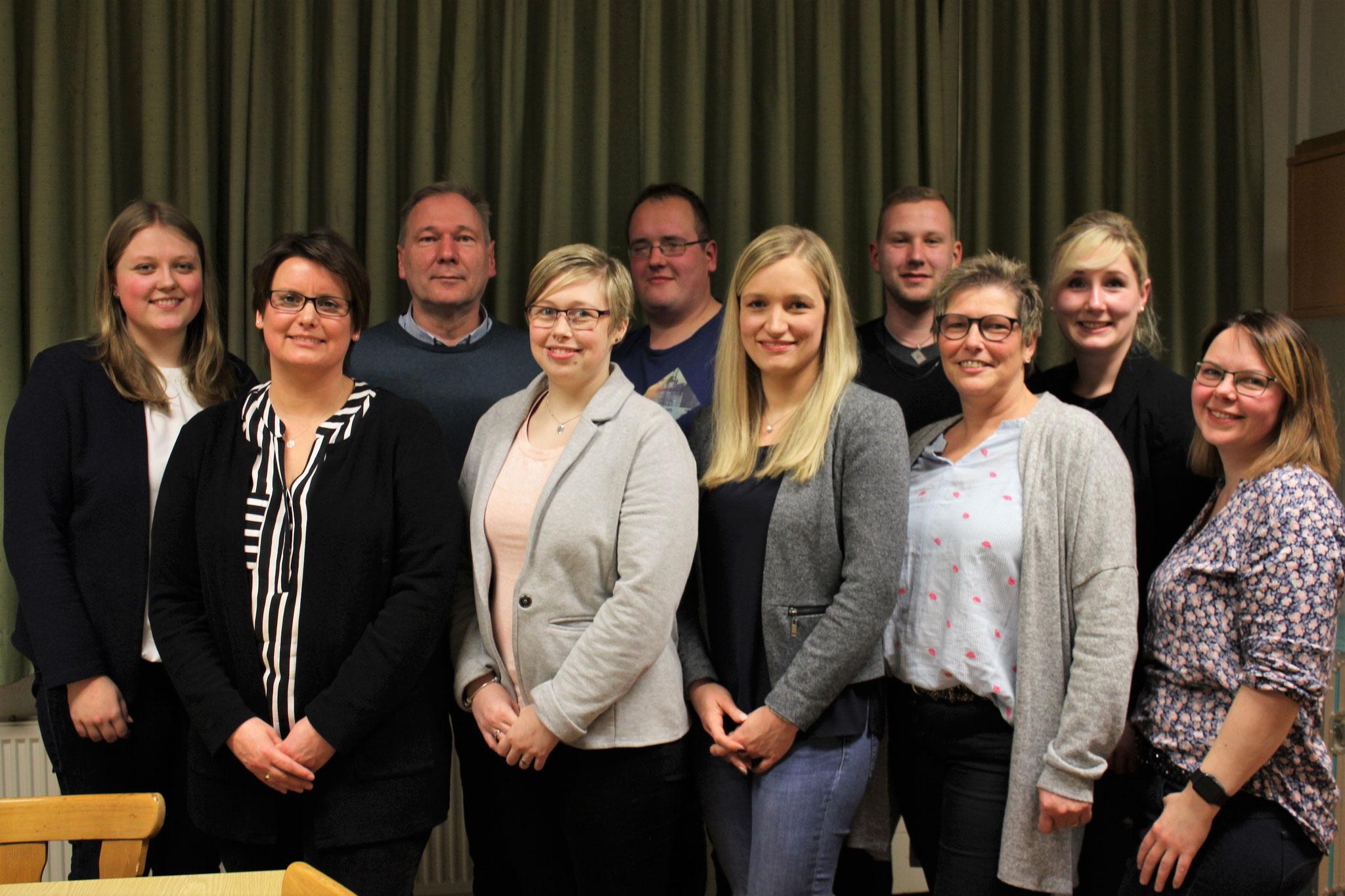 Mitgliederversammlung 2019 - Vorstand und Geehrte