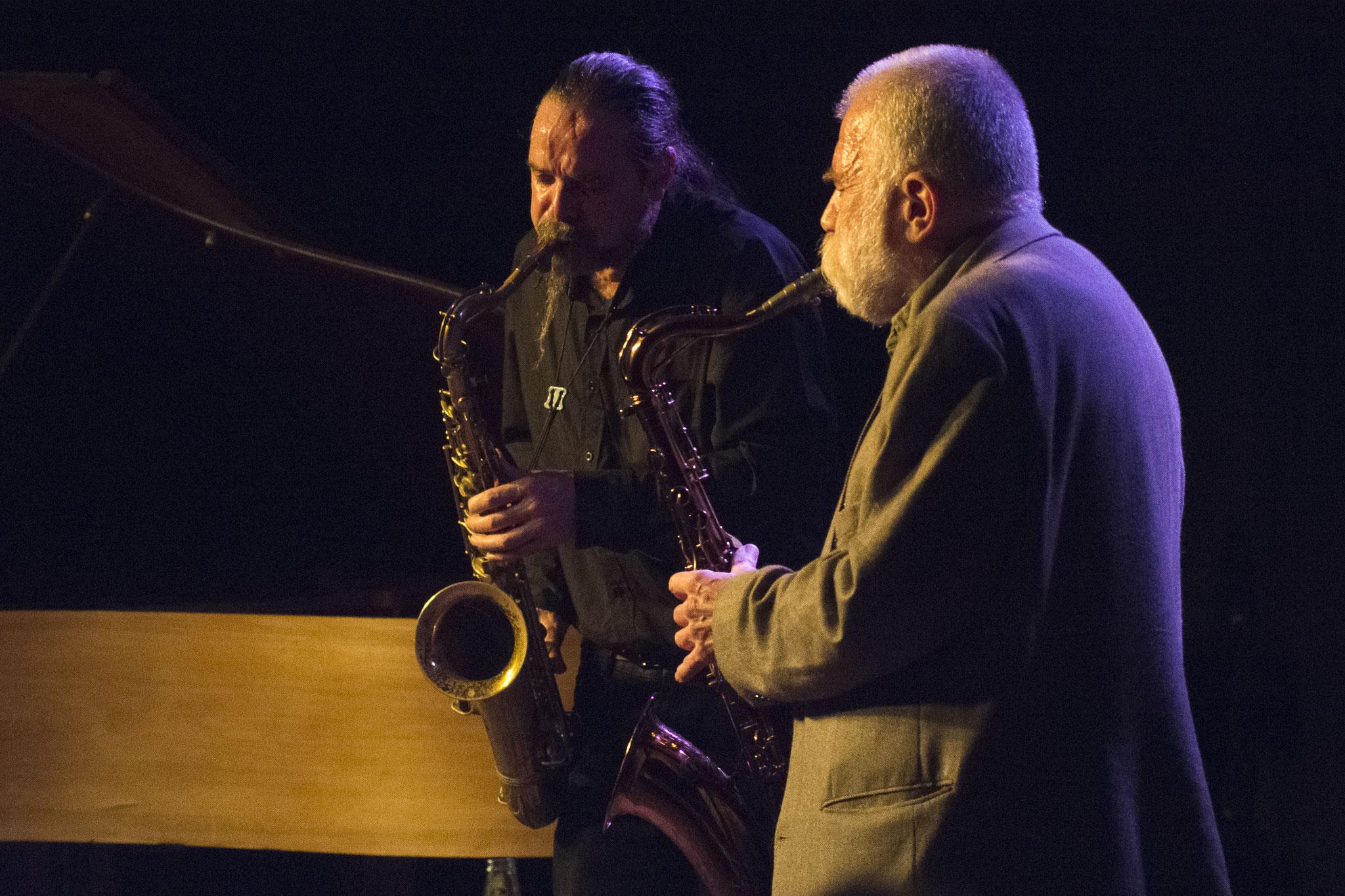 "Hiby/Brötzmann   Wuppertal ""Jazzclub Loch"" 2018  © Antje Zeis-Loi"