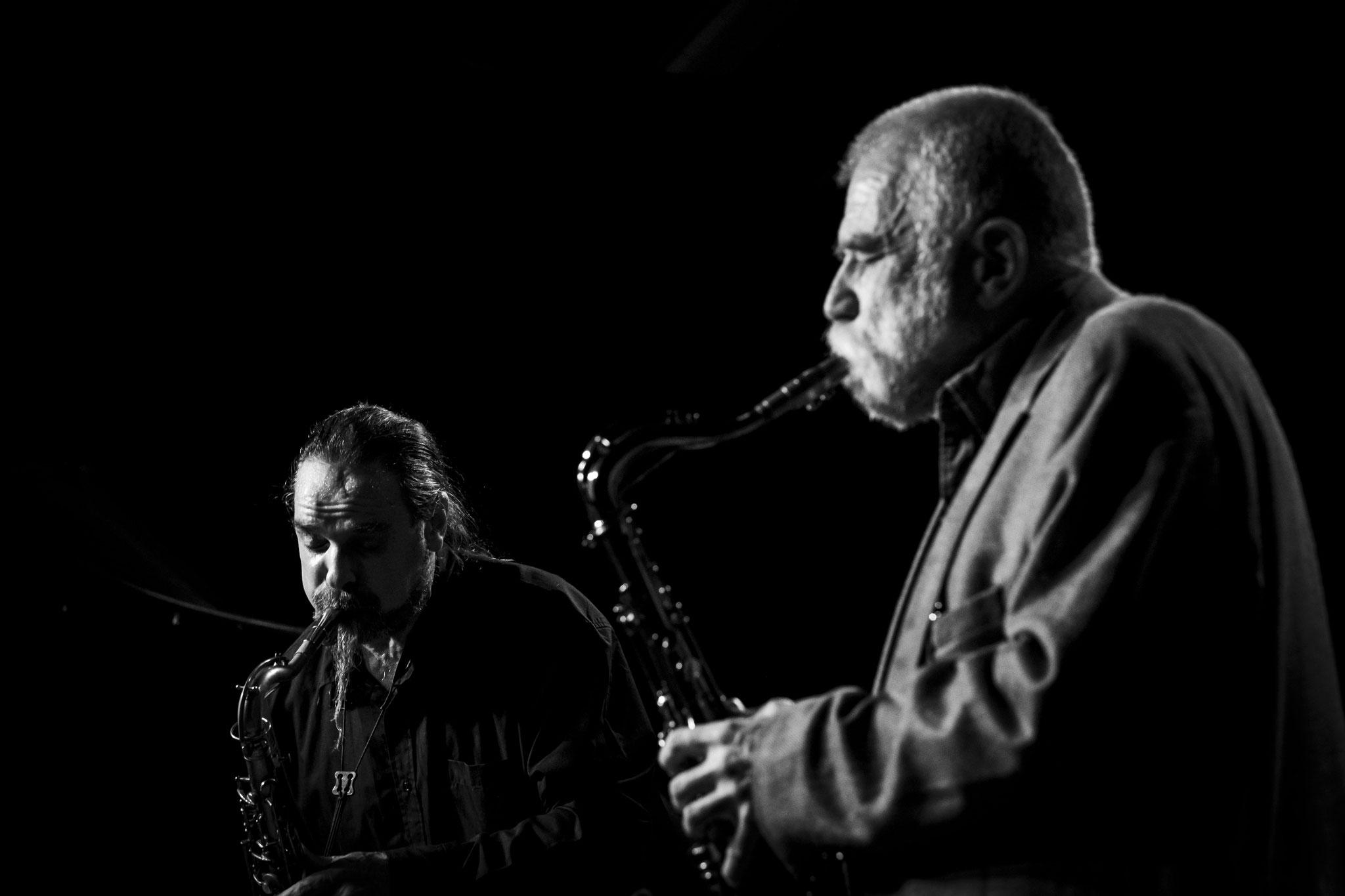 """Hiby/Brötzmann    Wuppertal """"Jazzclub Loch"""" 2018  © Roland Wingenroth"""