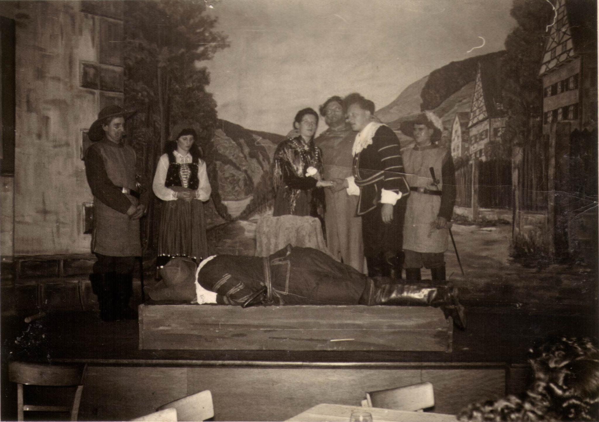 Wintersportfest im Löwen 1956
