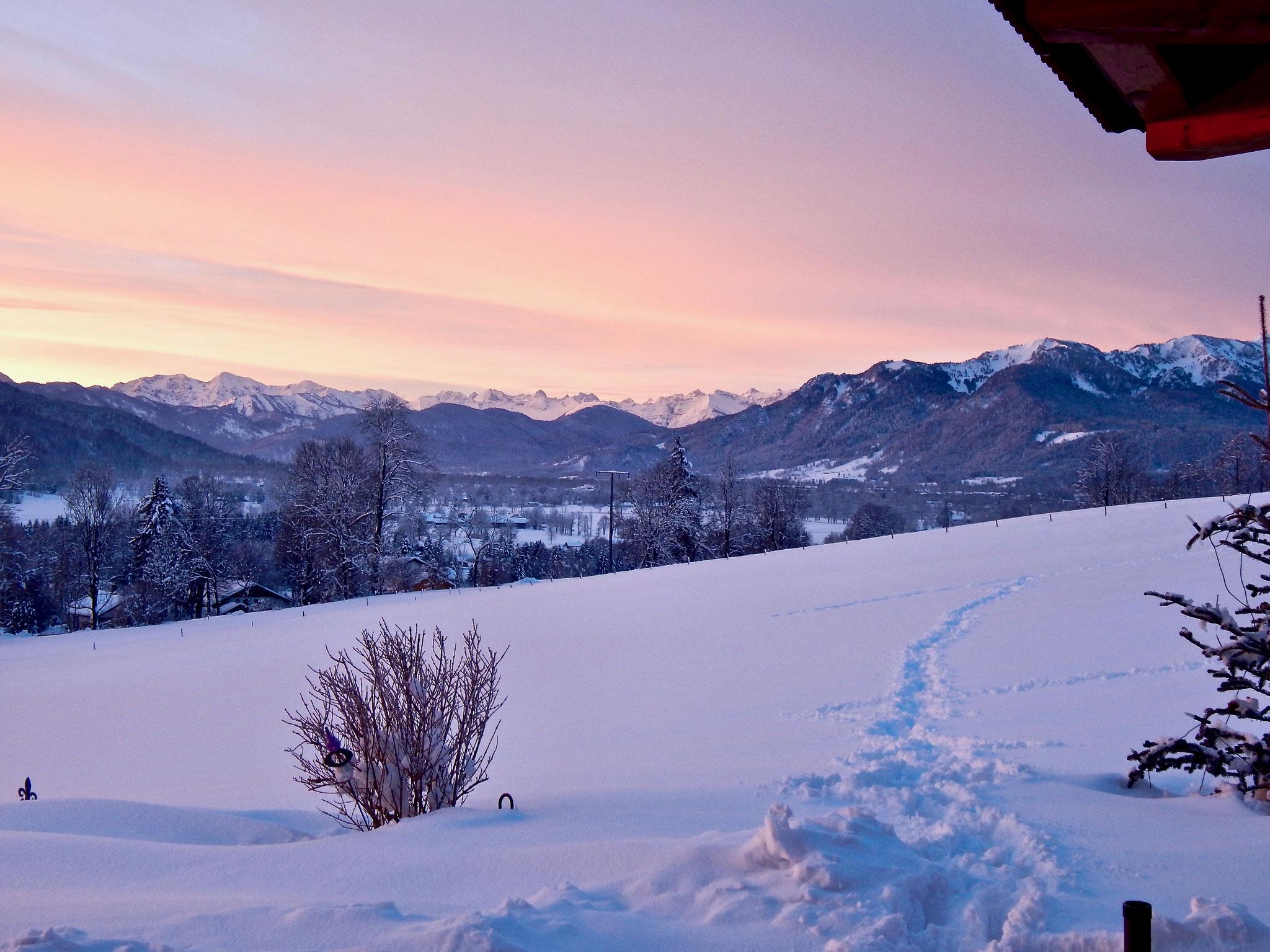 abendlicher Ausblick von der Terrasse