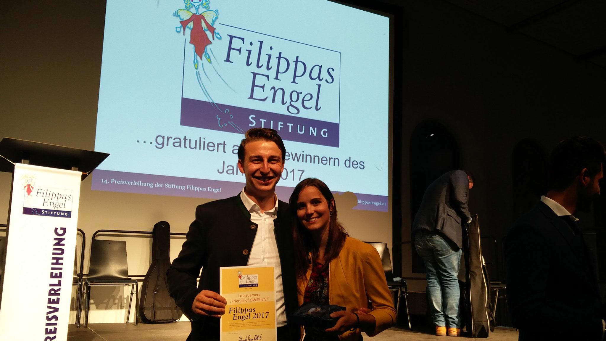 Louis Jarvers, Vorsitzender, mit Lotte Schlör, Gründungsmitglied der Friends