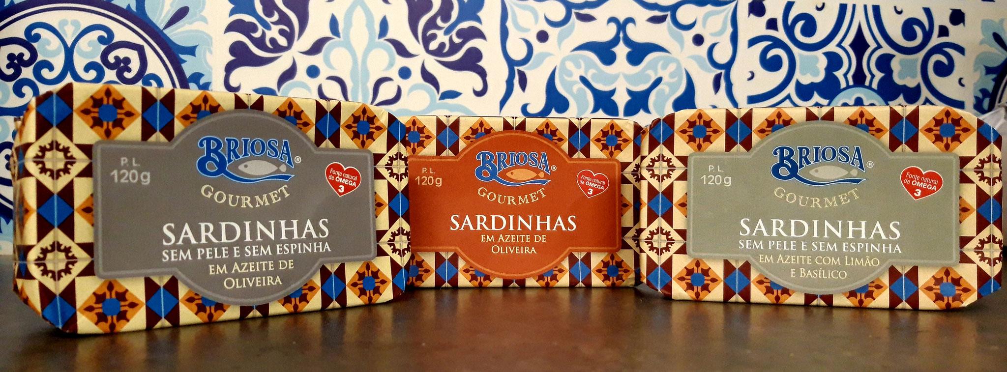 Sardines Huile d'Olive, Sardines Huile d'Olive Sans Peau et Sans Arêtes ( et citron / basilic)
