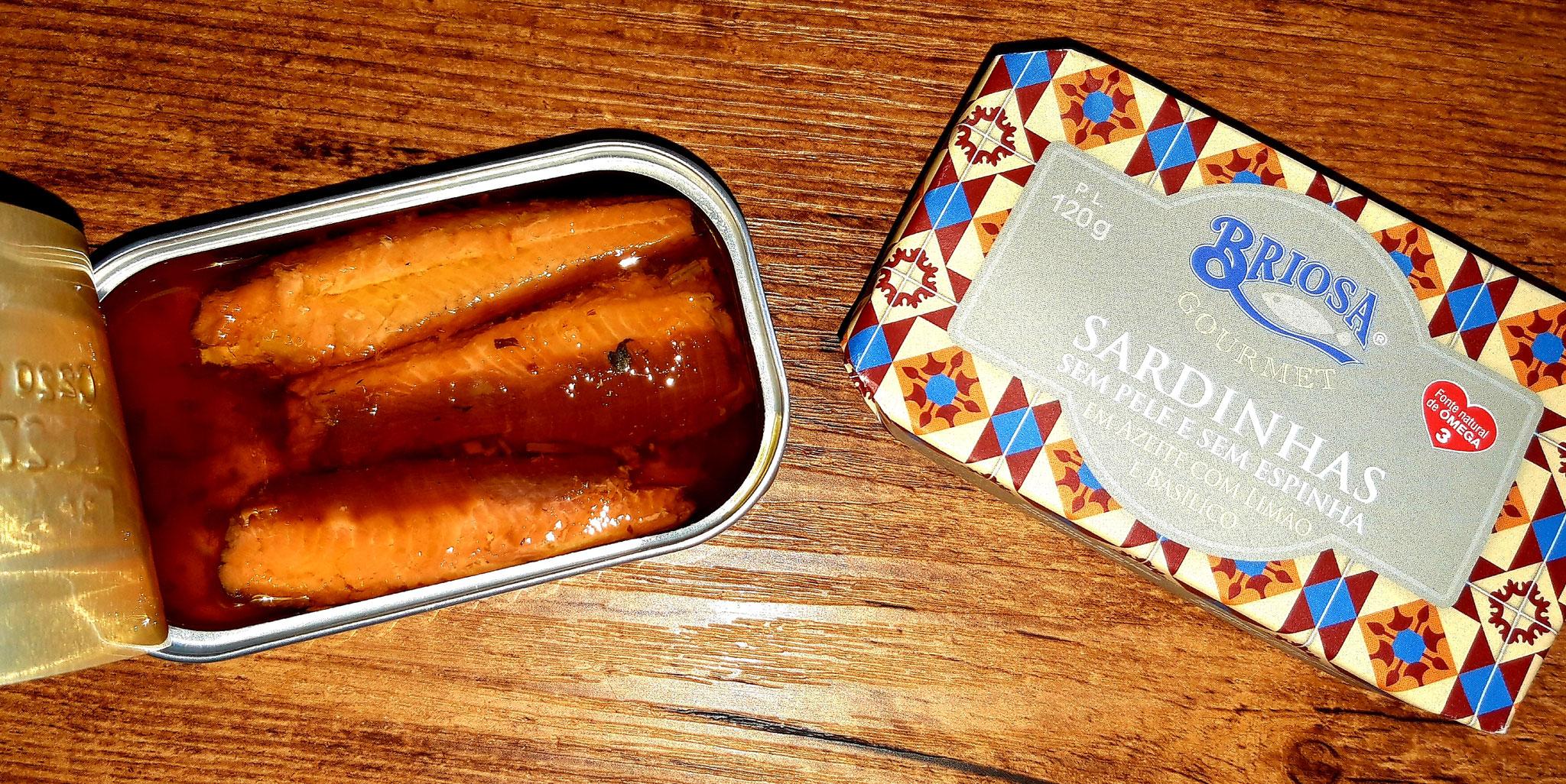Sardines Huile d'Olive Sans Peau et Sans Arêtes citron / basilic