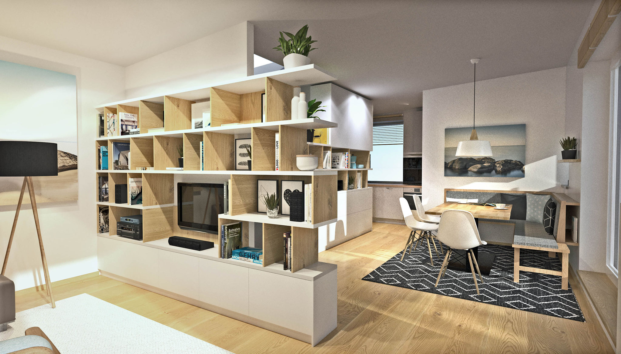 Wohnbereich - Wohnwand