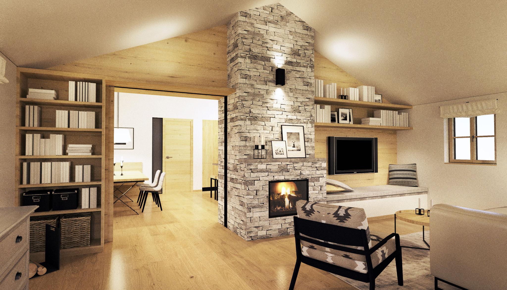Zu- und Umbau Haus M, Haslach | Wohnzimmer