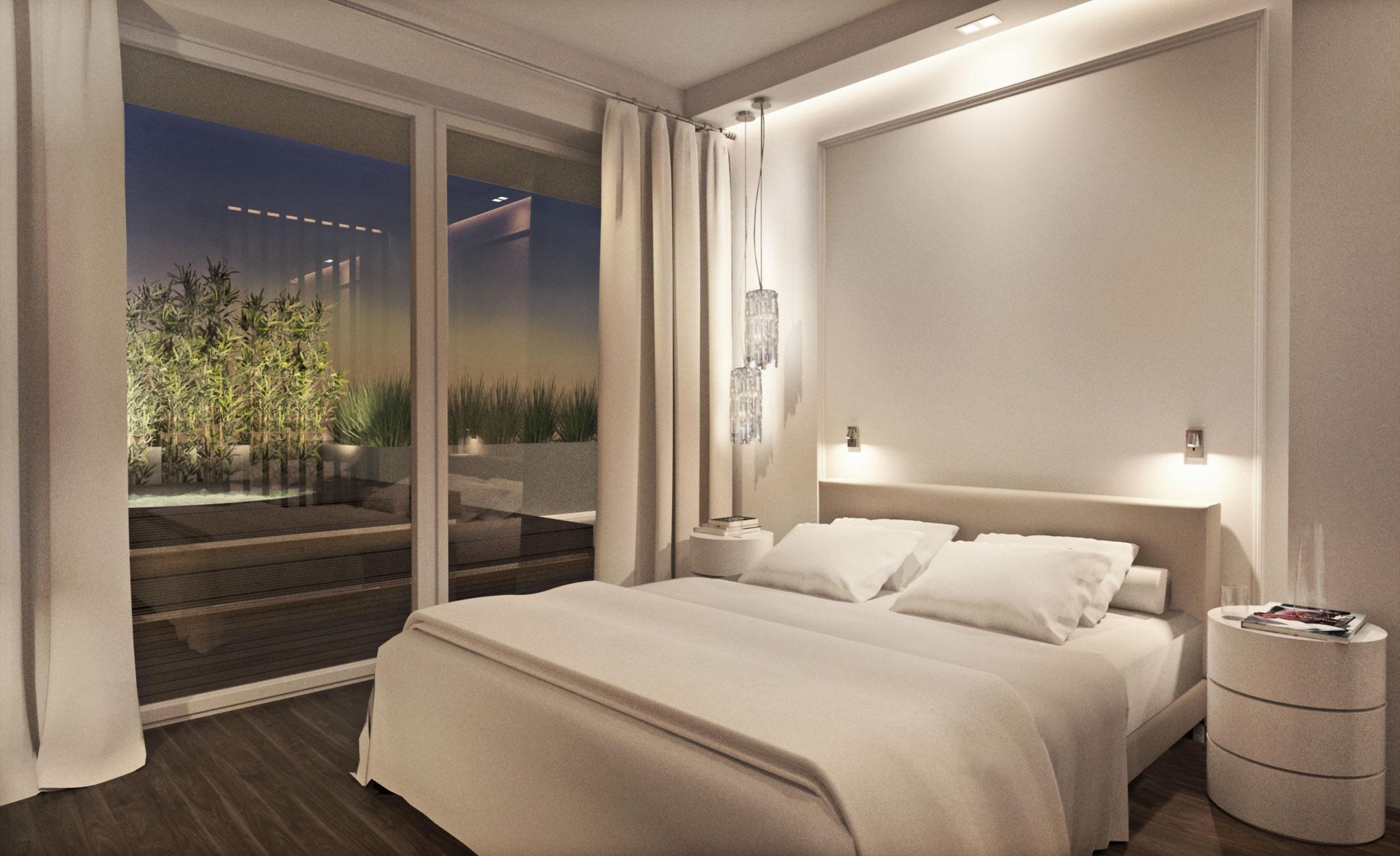 Penthouse N., Leibnitz  Schlafzimmer