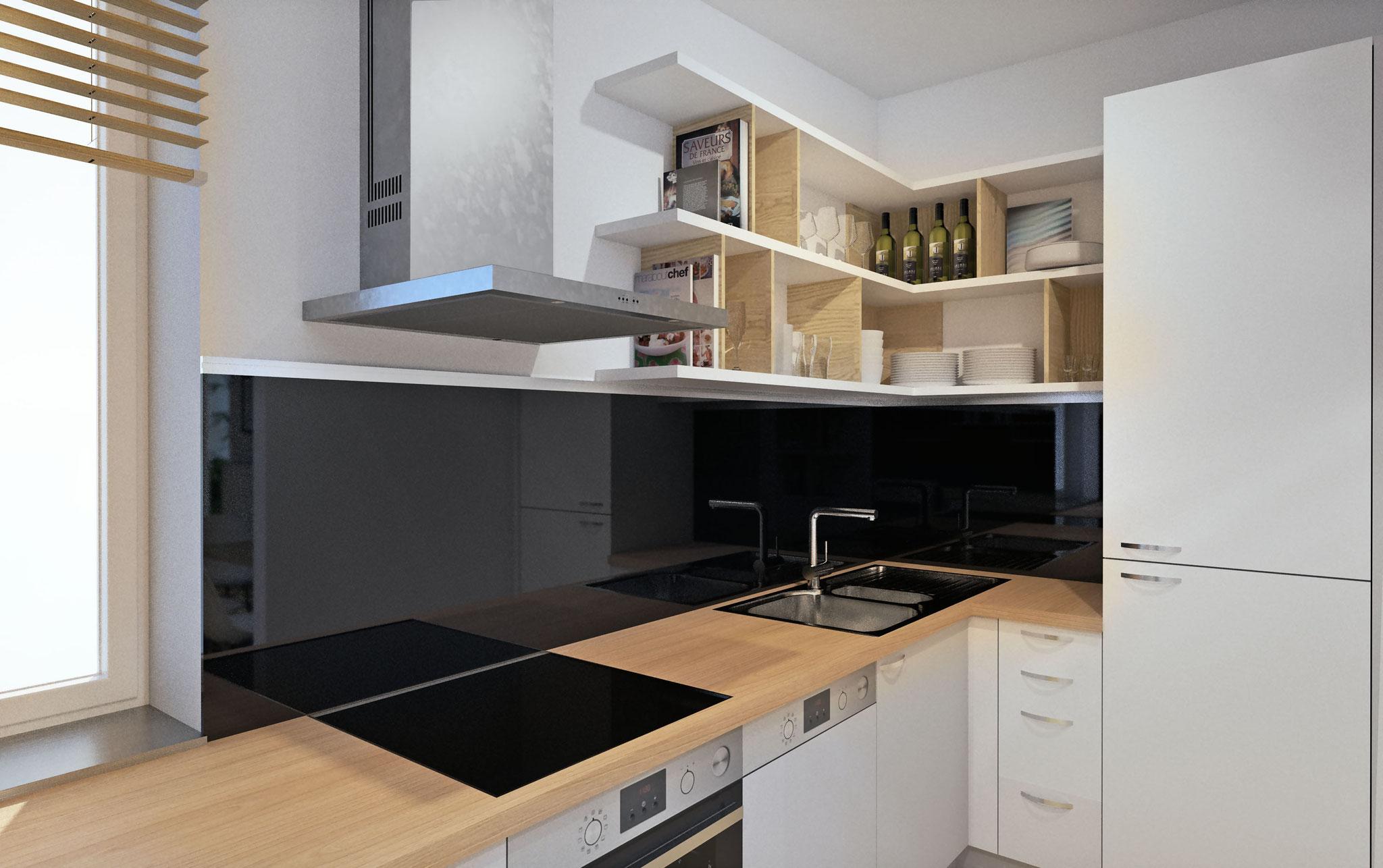 Küche - neue offene Regale