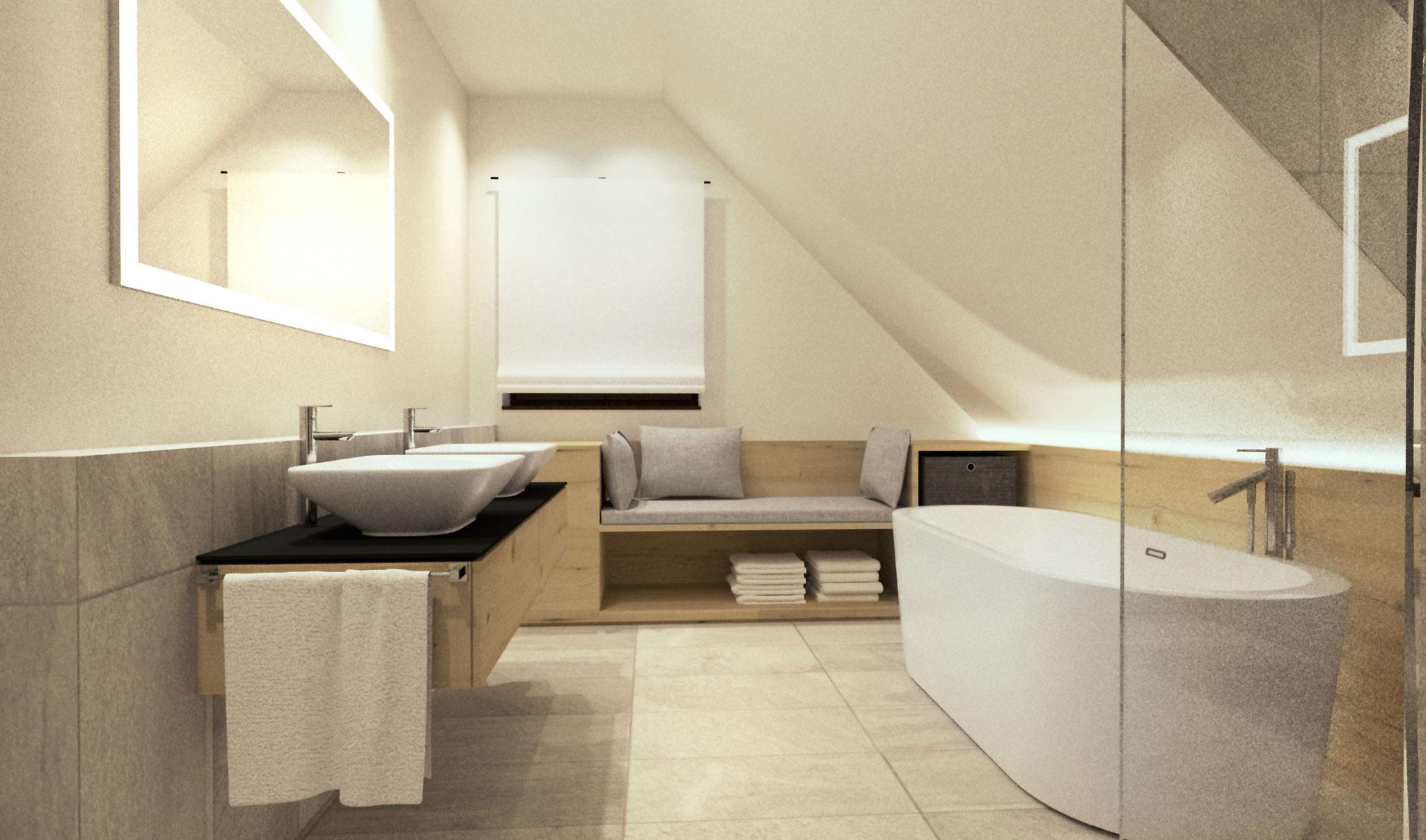 Zu- und Umbau Haus M, Haslach | Badezimmer
