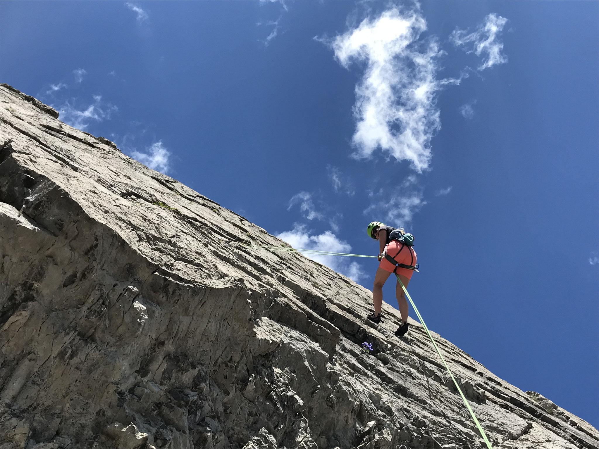 Abseilen über die Wolfebner Südwand