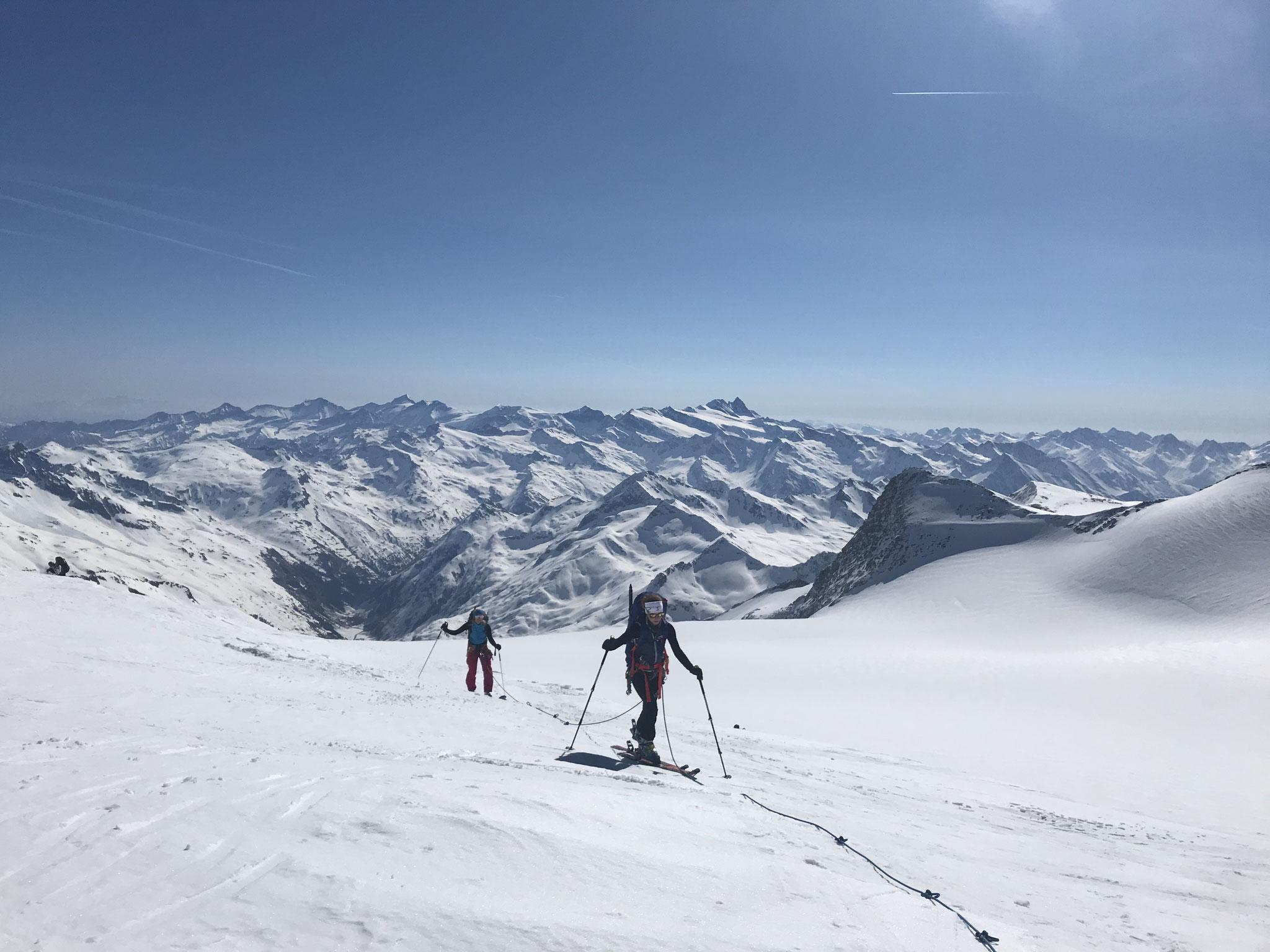 Bei der Skidurchquerung - Hoch Tirol