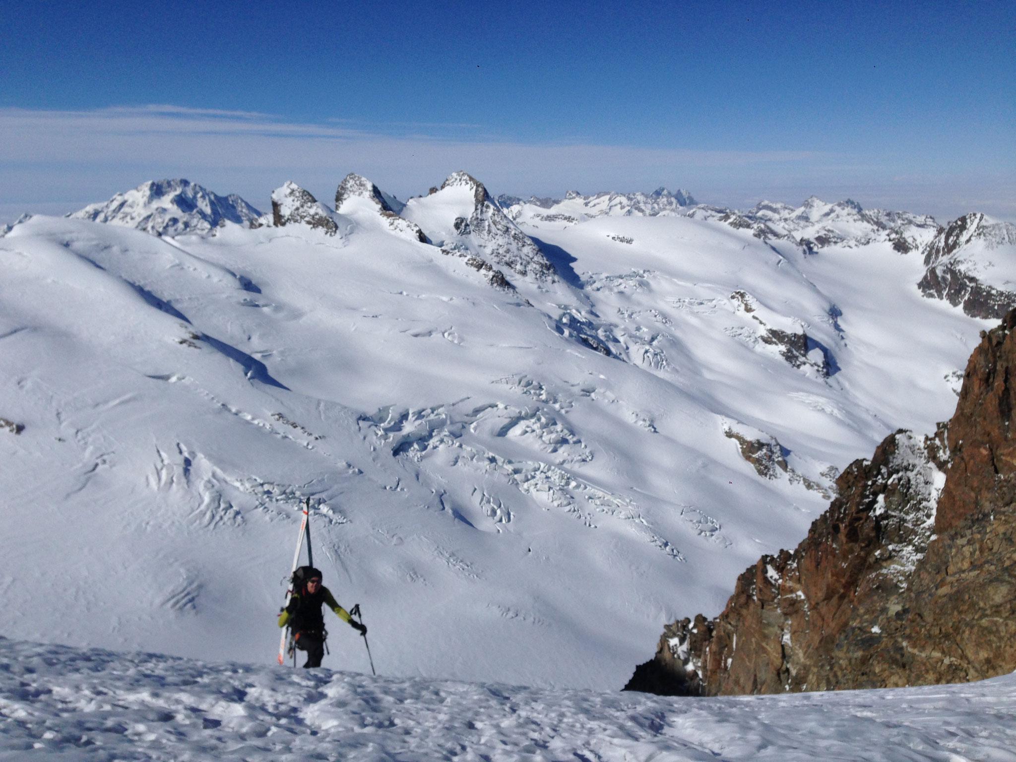 Mit Ski auf den Piz Roseg - Berninagruppe