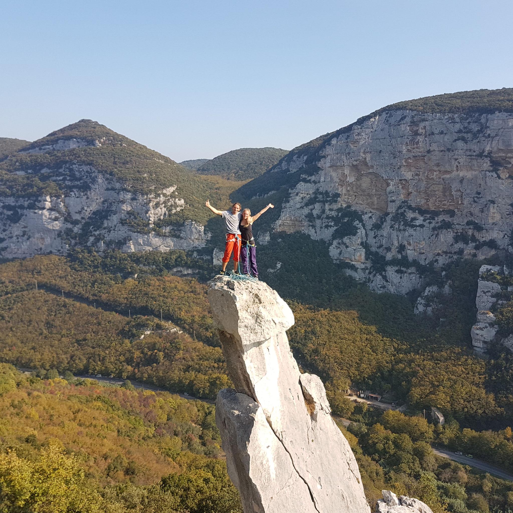Klettern in Finale Ligure - Italien
