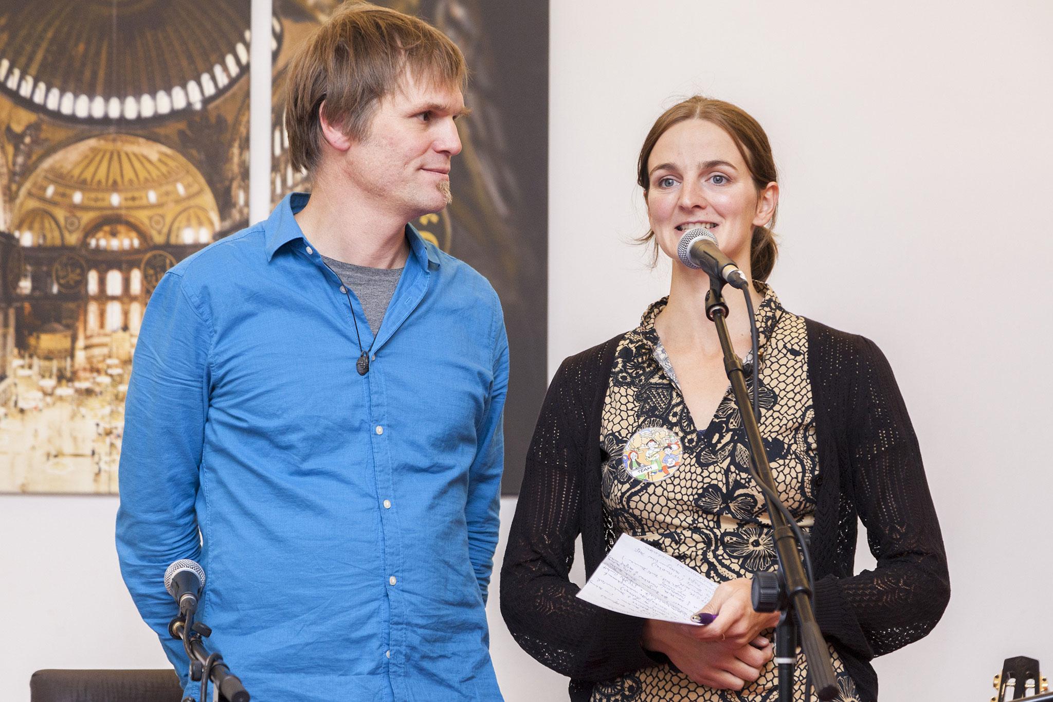 Begrüßung Kirschendieb & Perlensucher, Sebastian & Florina, Foto: Antonia Richter