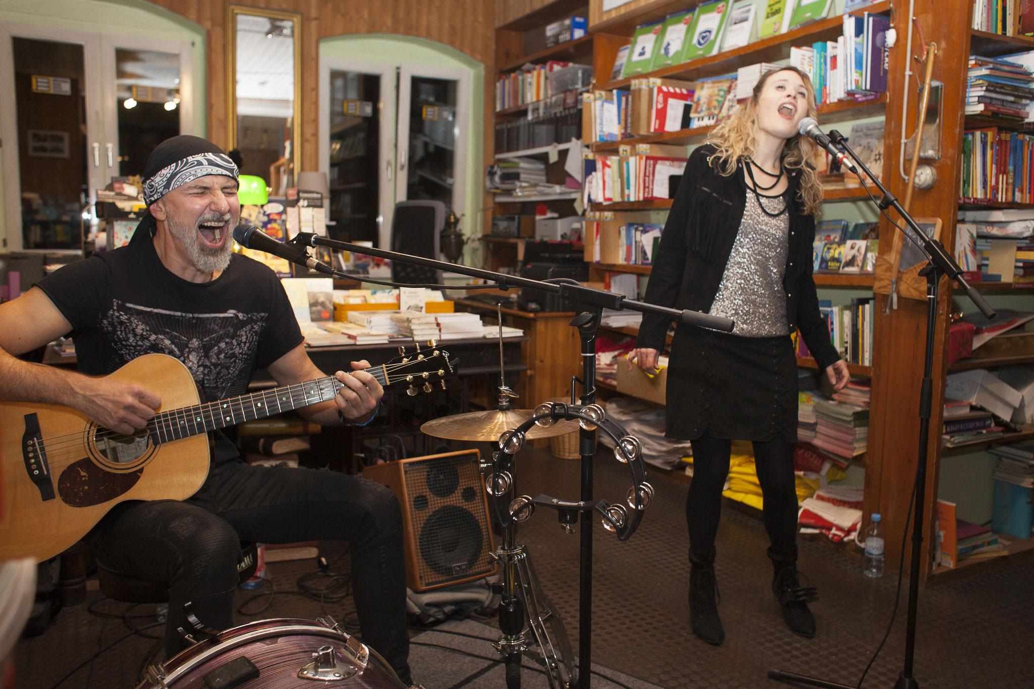 Hill & Ray in der Buchhandlung am Schäfersee, Foto: Patricia Schichl