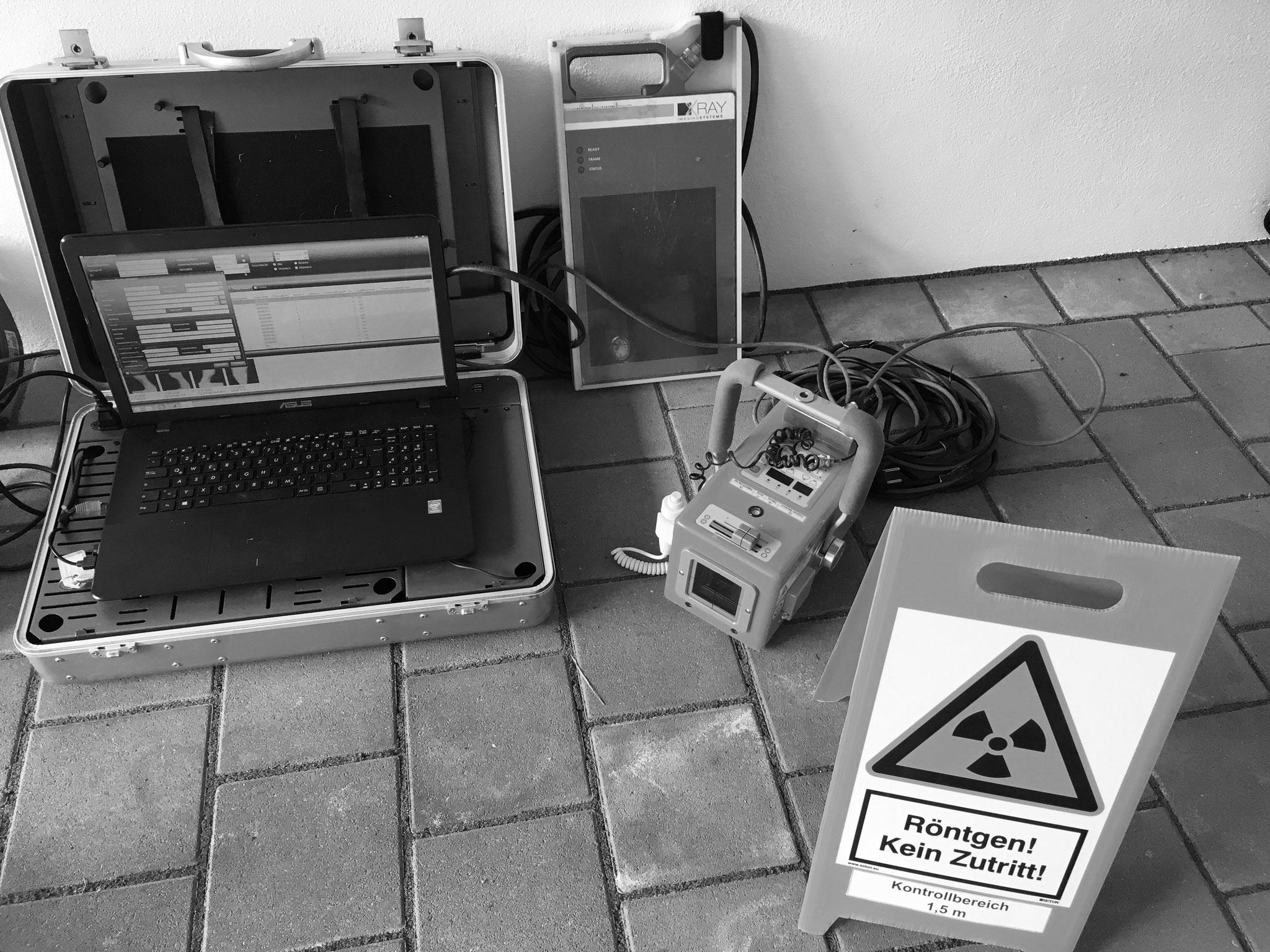 Mobile Röntgenanlage für bildgebende Diagnostik