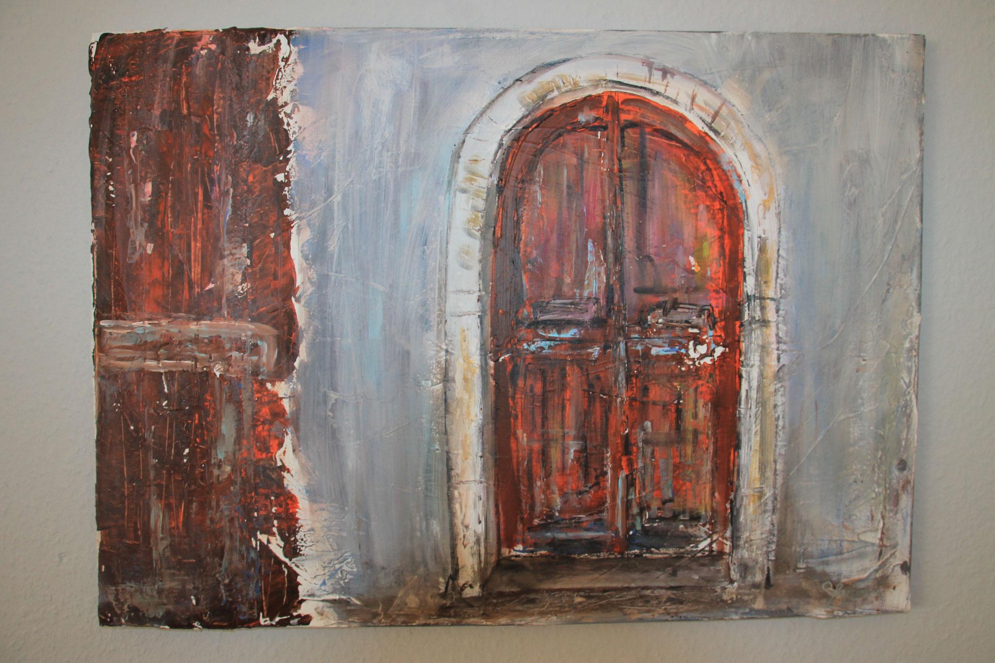 50 x 70 cm Acryl  und Paste auf Leinwand