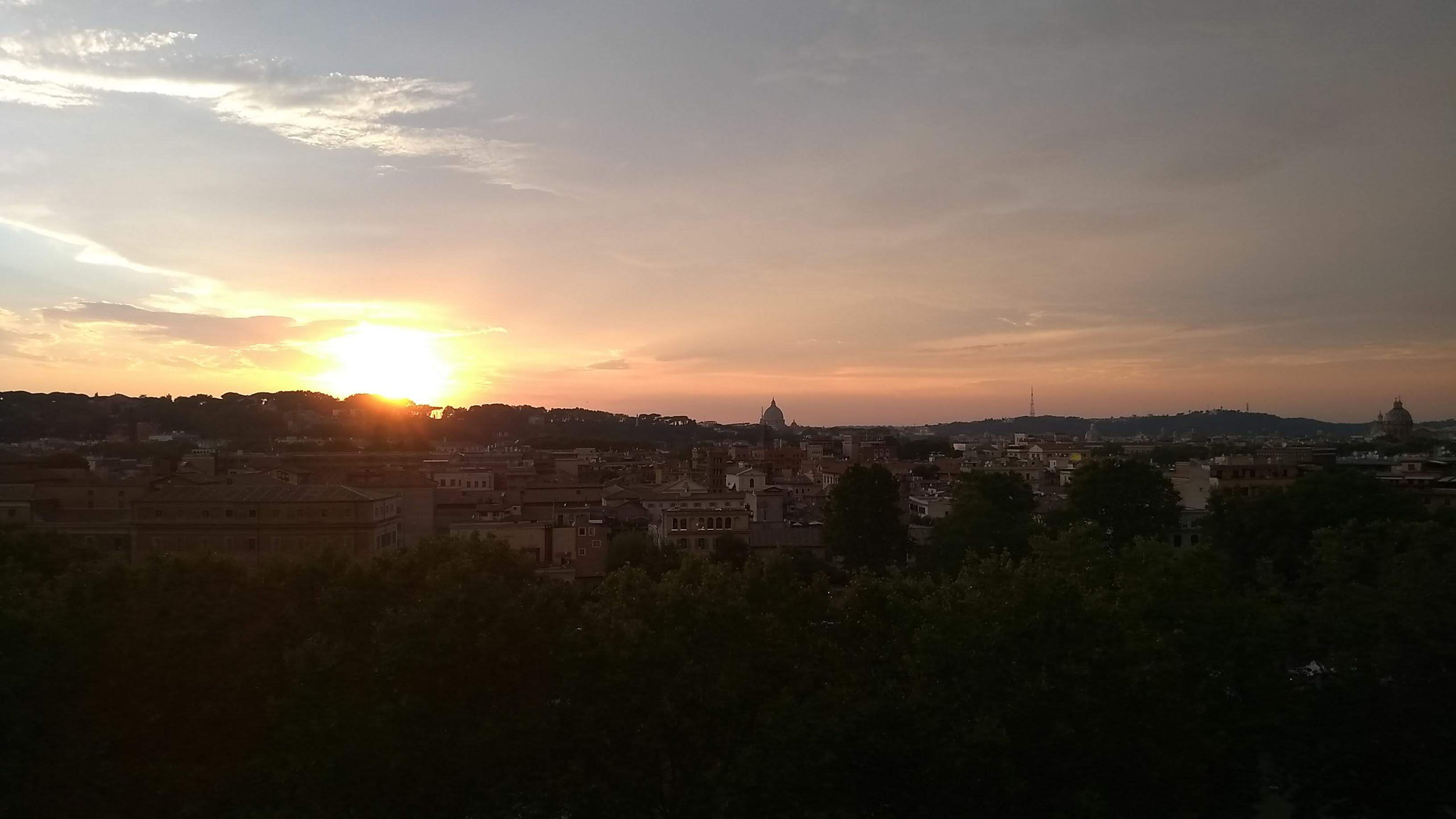 Sonnenuntergang auf dem Aventin