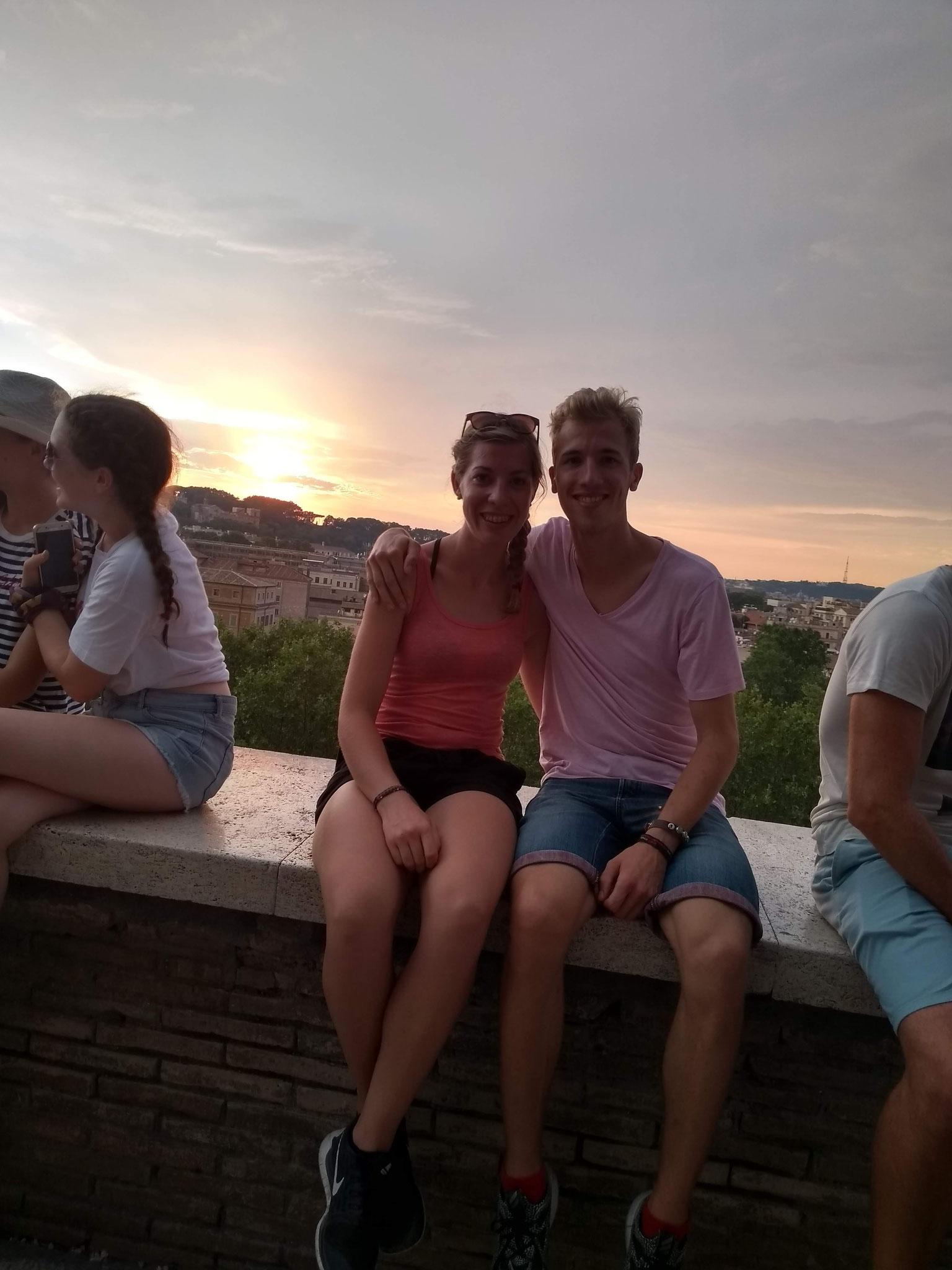 Auf dem Aventin mit Blick auf Rom