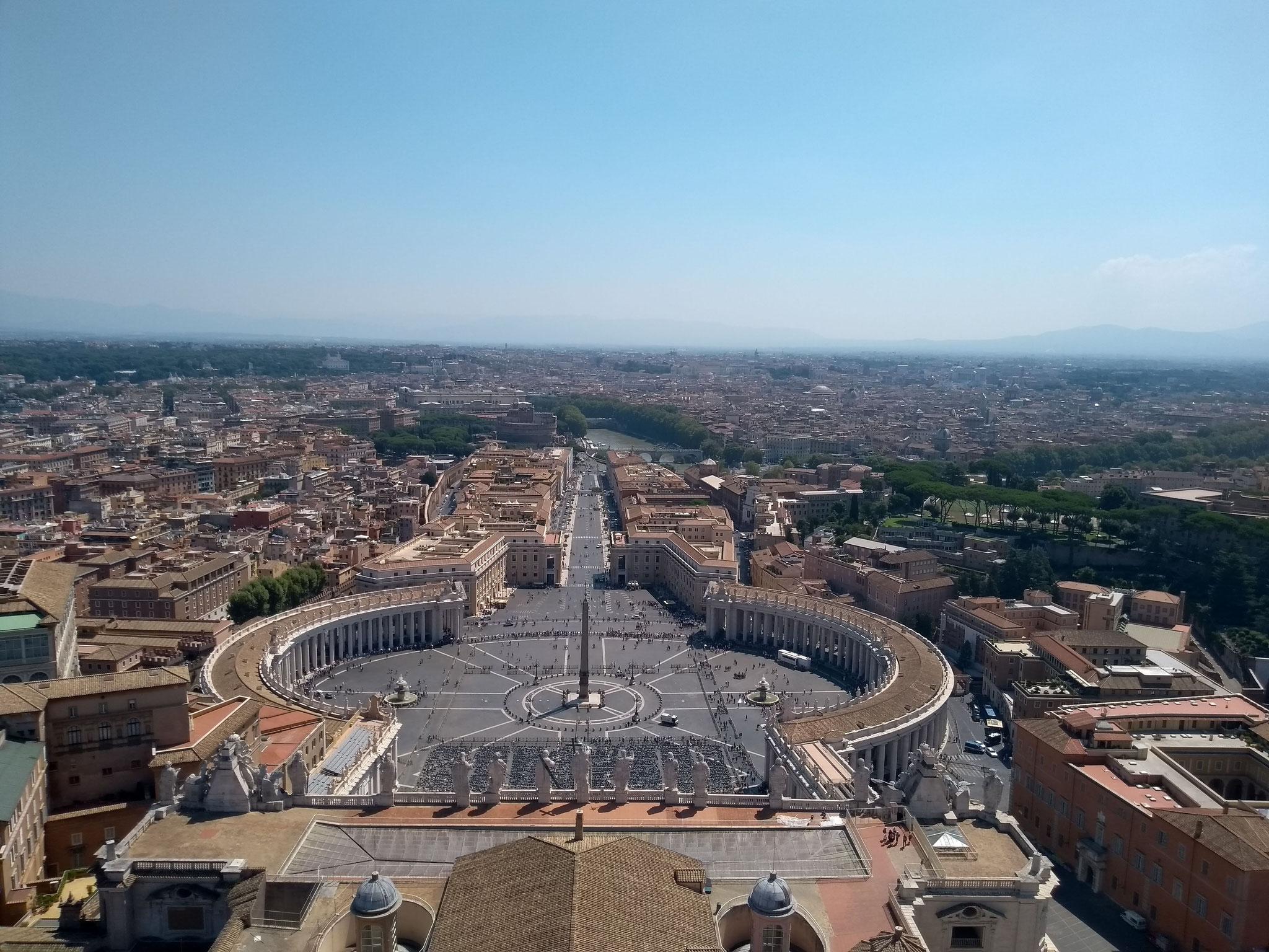 Kuppel - Blick auf St. Petersplatz