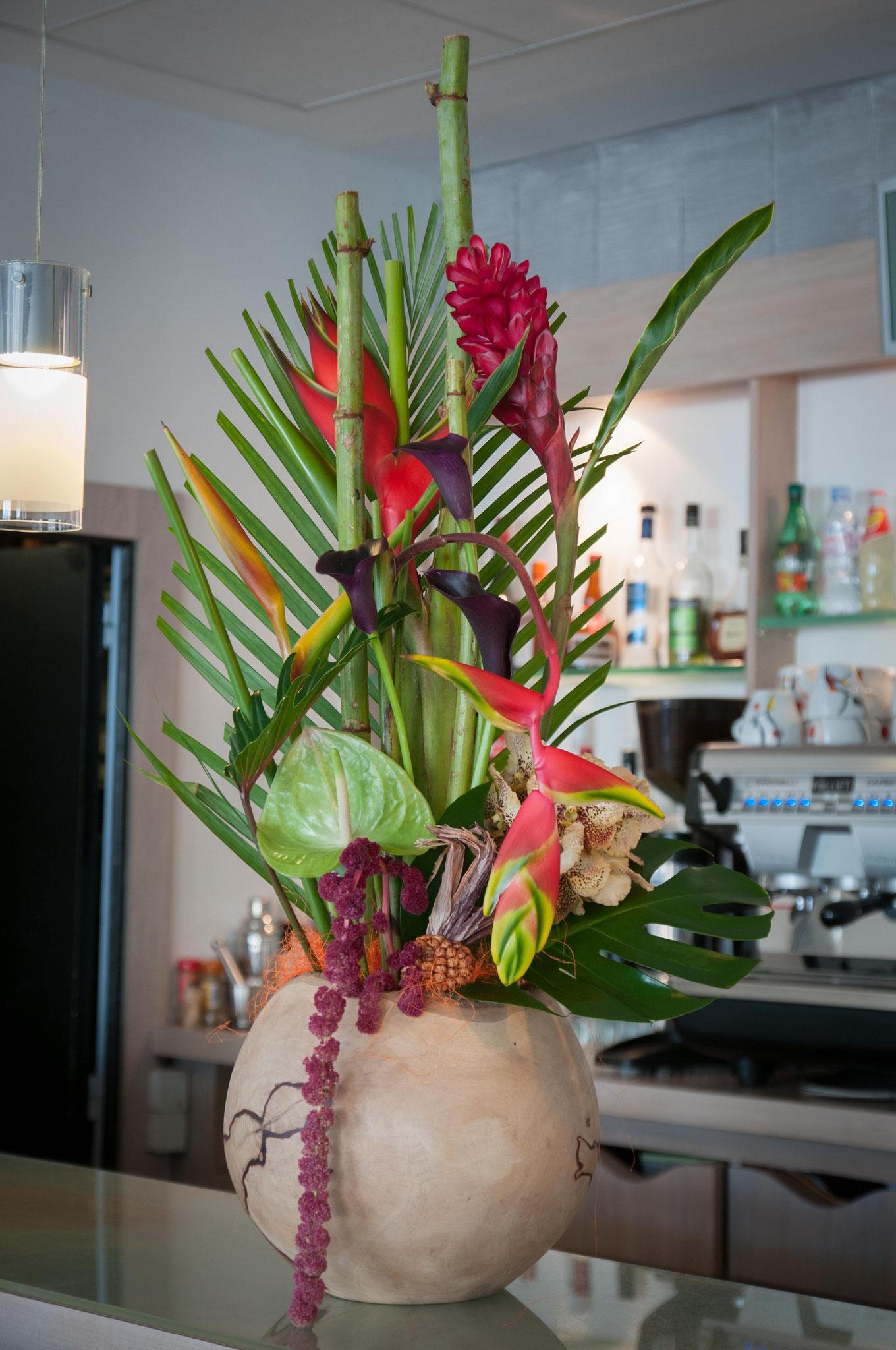 Perols fleurs, Composition florale