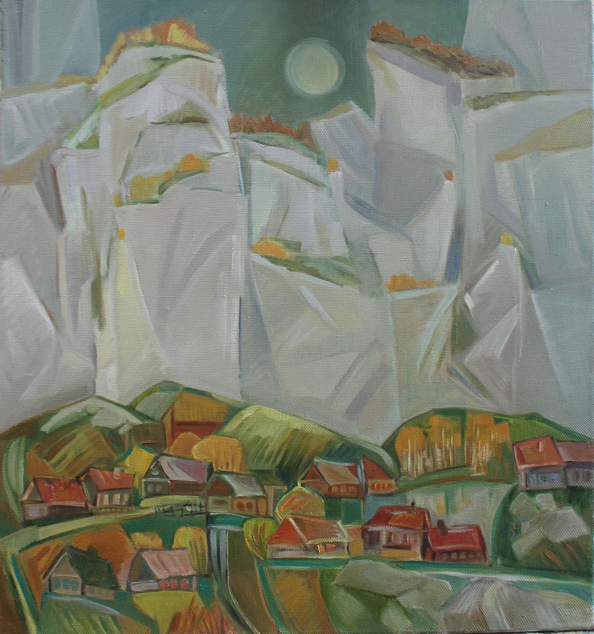 Белые склалы (Аша).         2011 г.         75х70 см.         Холст, масло.