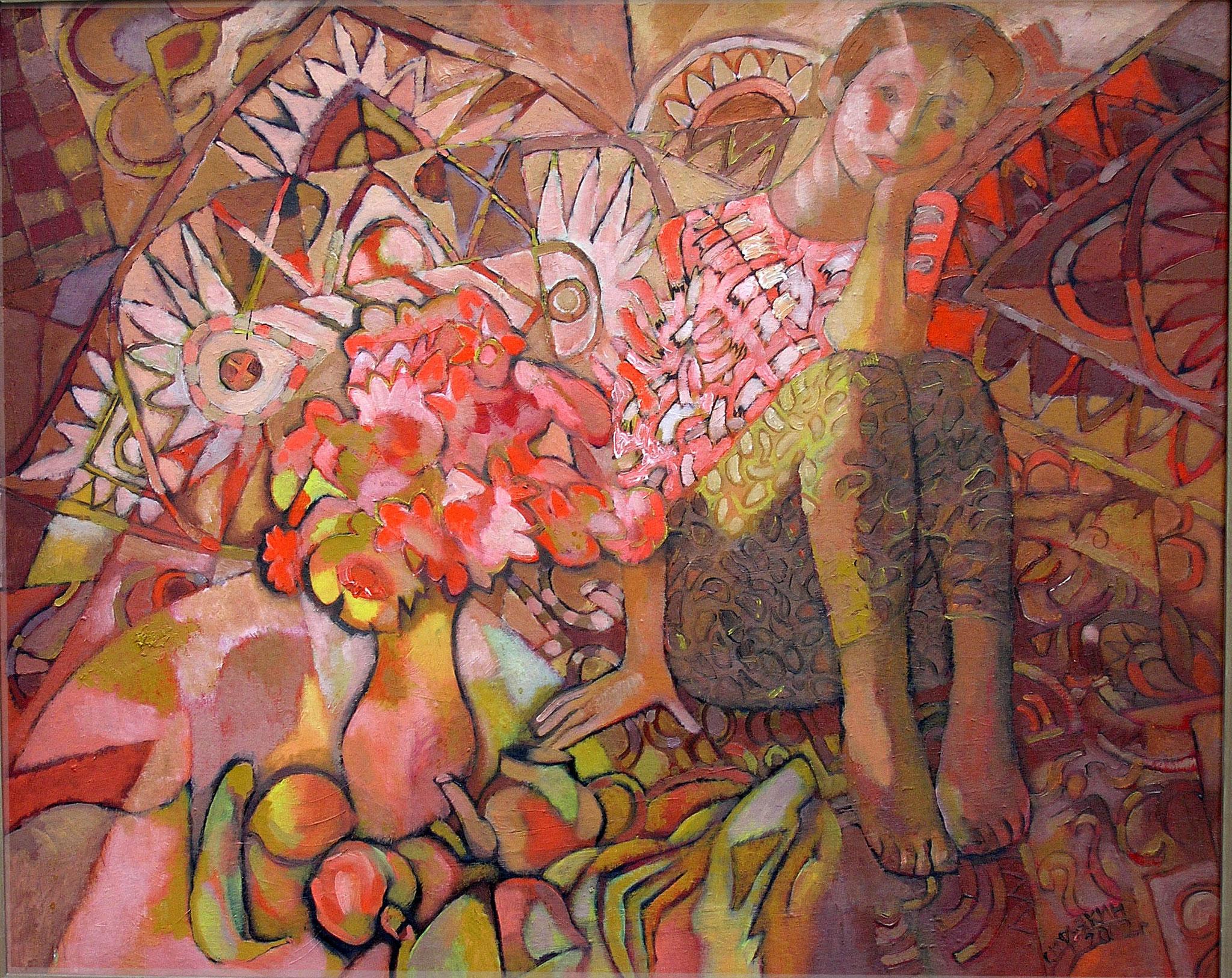 Утренний портрет.      2002 г.       ДВП, масло.      68х84 см.