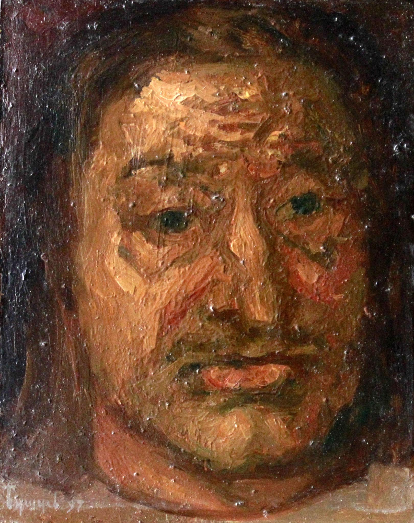 Петр I.    18х23 см.      Картон, масло.       1990-е годы.