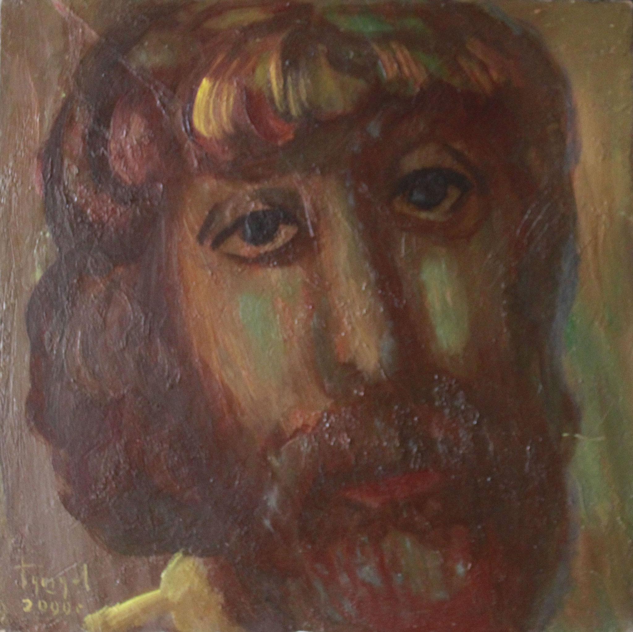 Художник.      30х30 см.      Картон, масло.       1990-е годы.