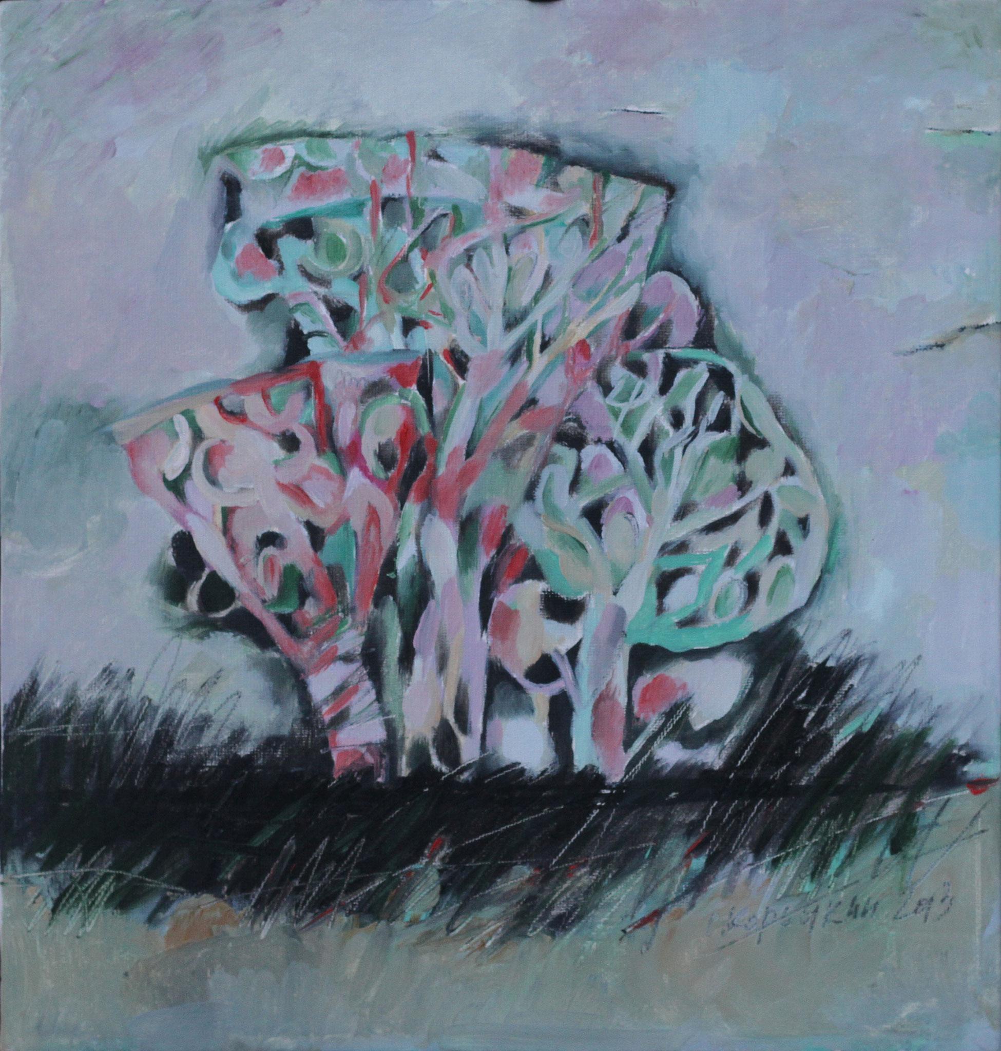 Из серии «Дерева».      2013 г.      Холст, масло.     32х30 см.