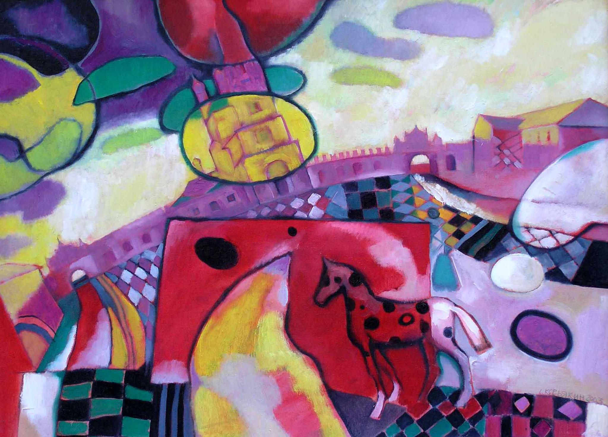 Верхотурский Кремль -2.       2003 г. Холст, масло.    51х72 см.