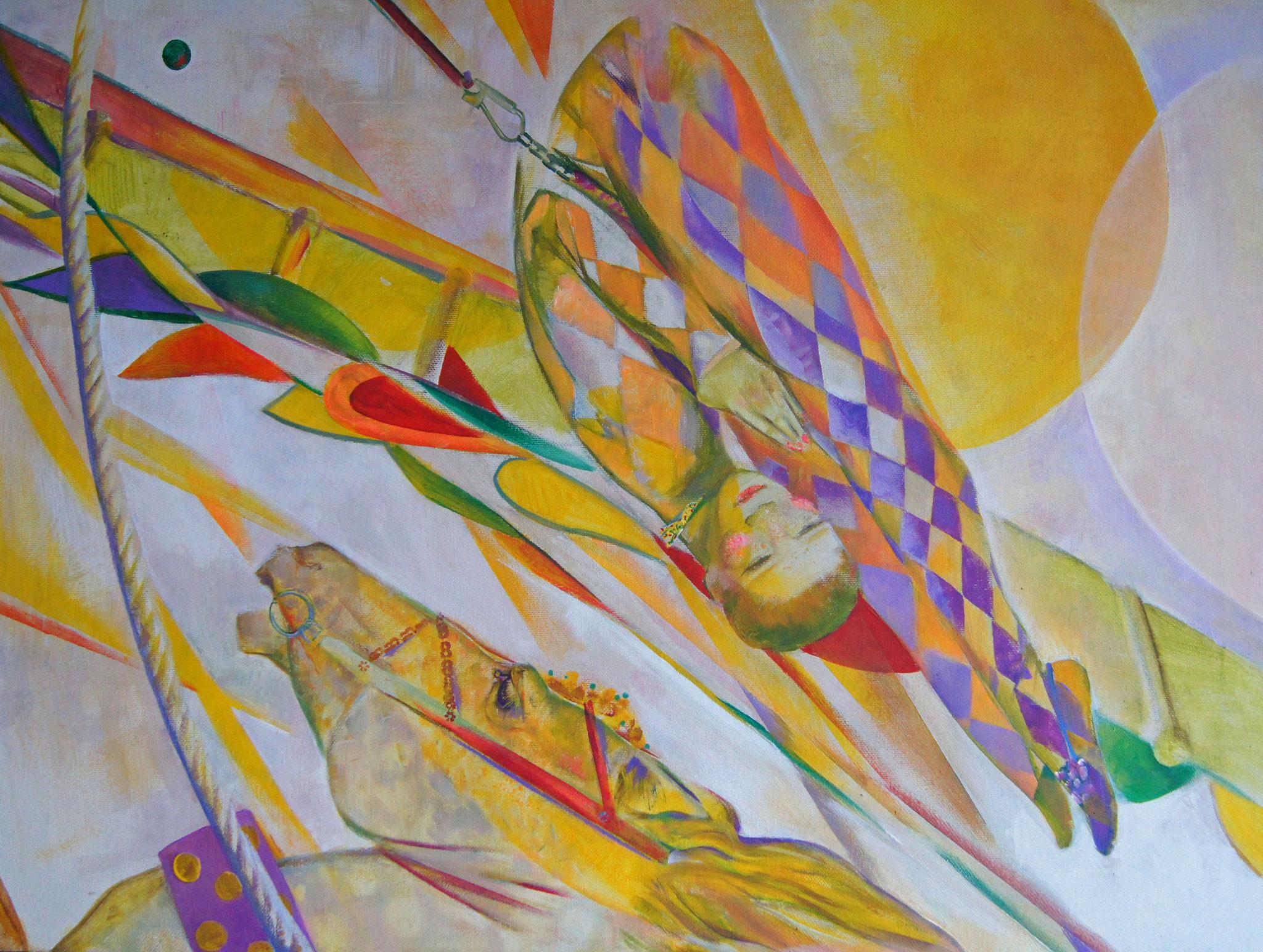 Люся Краскова          Прыжок.        2016 г.      60х80 см.     Холст, масло.
