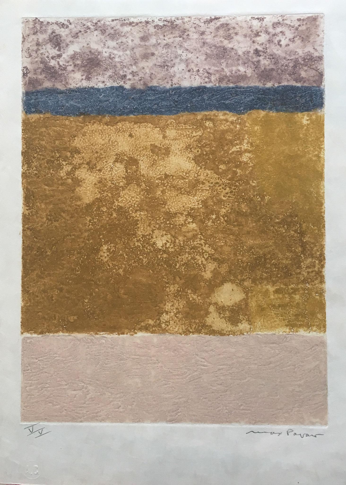 Max Papart,  la beauce 1972 aquatinte  signée et numérotée  V/V , 35,5x25,5 cm