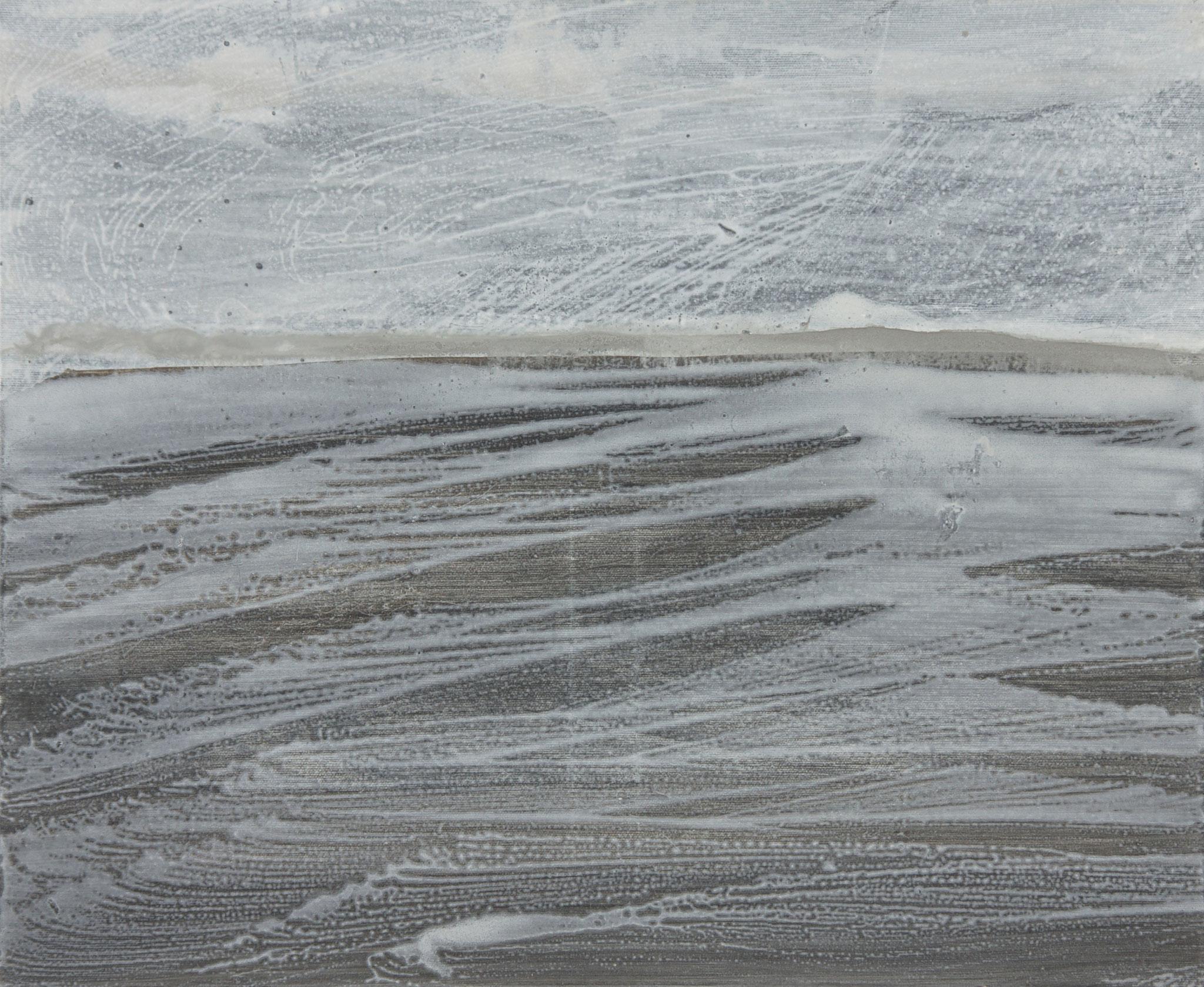 fadia Haddad Pigments et médium acrylique sur toile- 2012