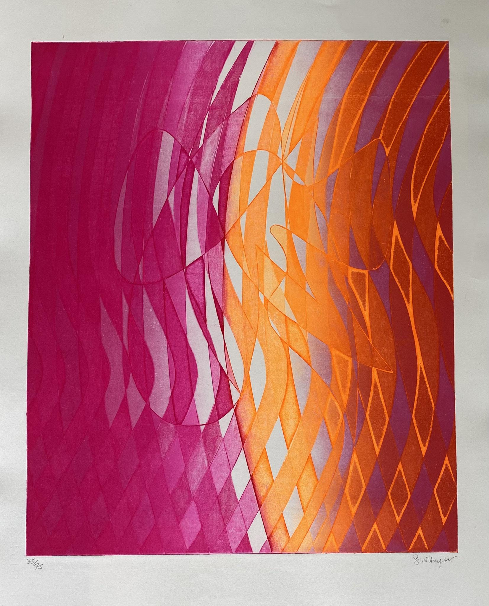 Stanley William Hayter, Labris, 1973 (Black & Moorhead  366)   Eau-forte et vernis mou en couleurs Rives, signée et numérotée au crayon, Image : 49 x 40 cm  Feuille : 65 x 50