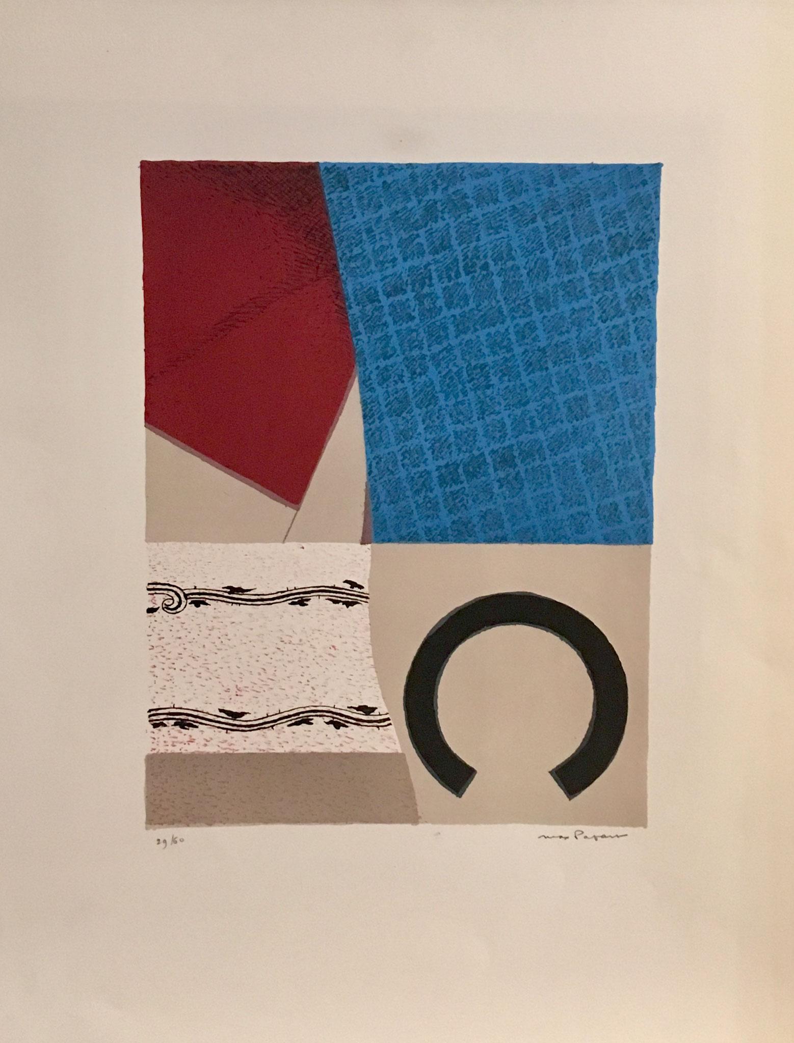 les cyclades 1967, lithographie, signée et numérotée , 29/60, 65,5 x 50 cm