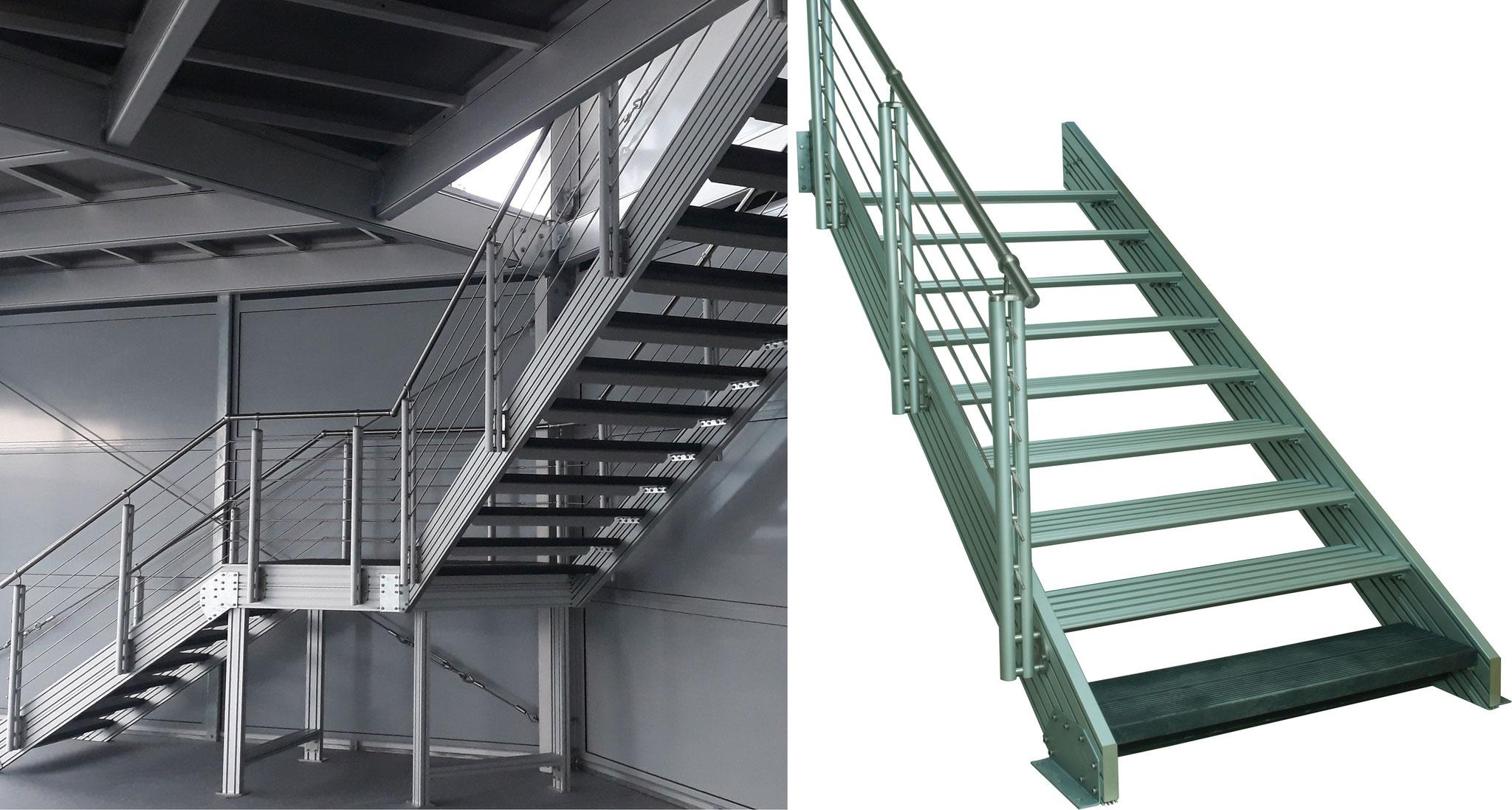 alu treppe außen