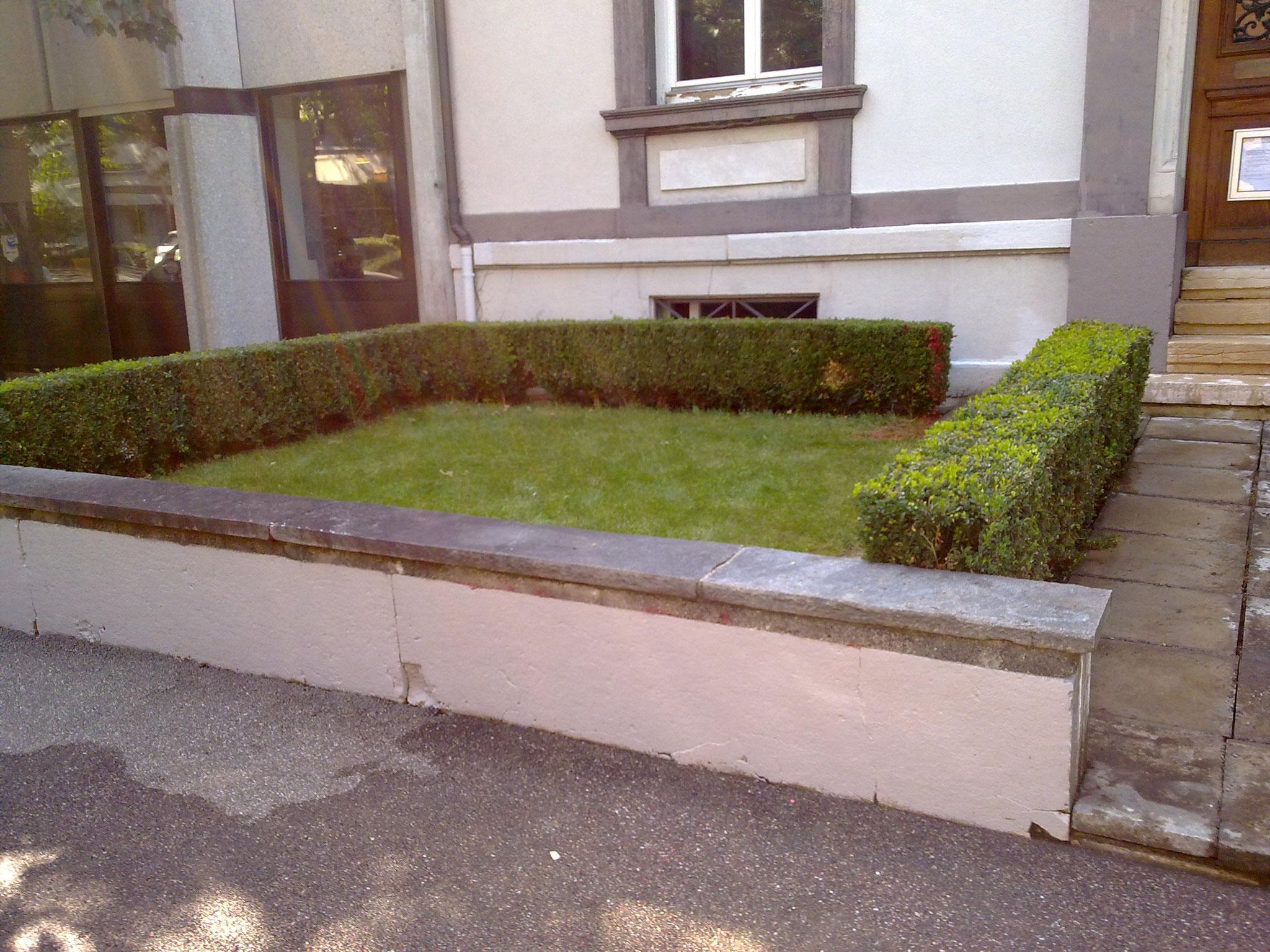 Nacher: Instandstellung innert 24 Stunden, Lange Gasse in Basel.