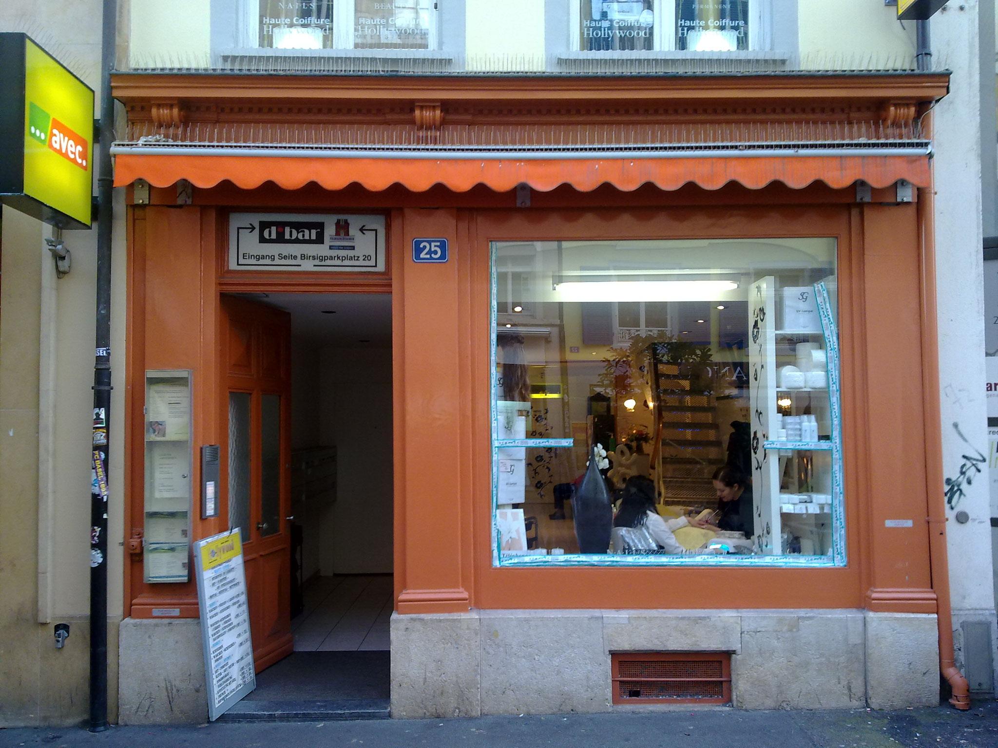 Bestehende Sockelfront, Steinenvorstadt in Basel.