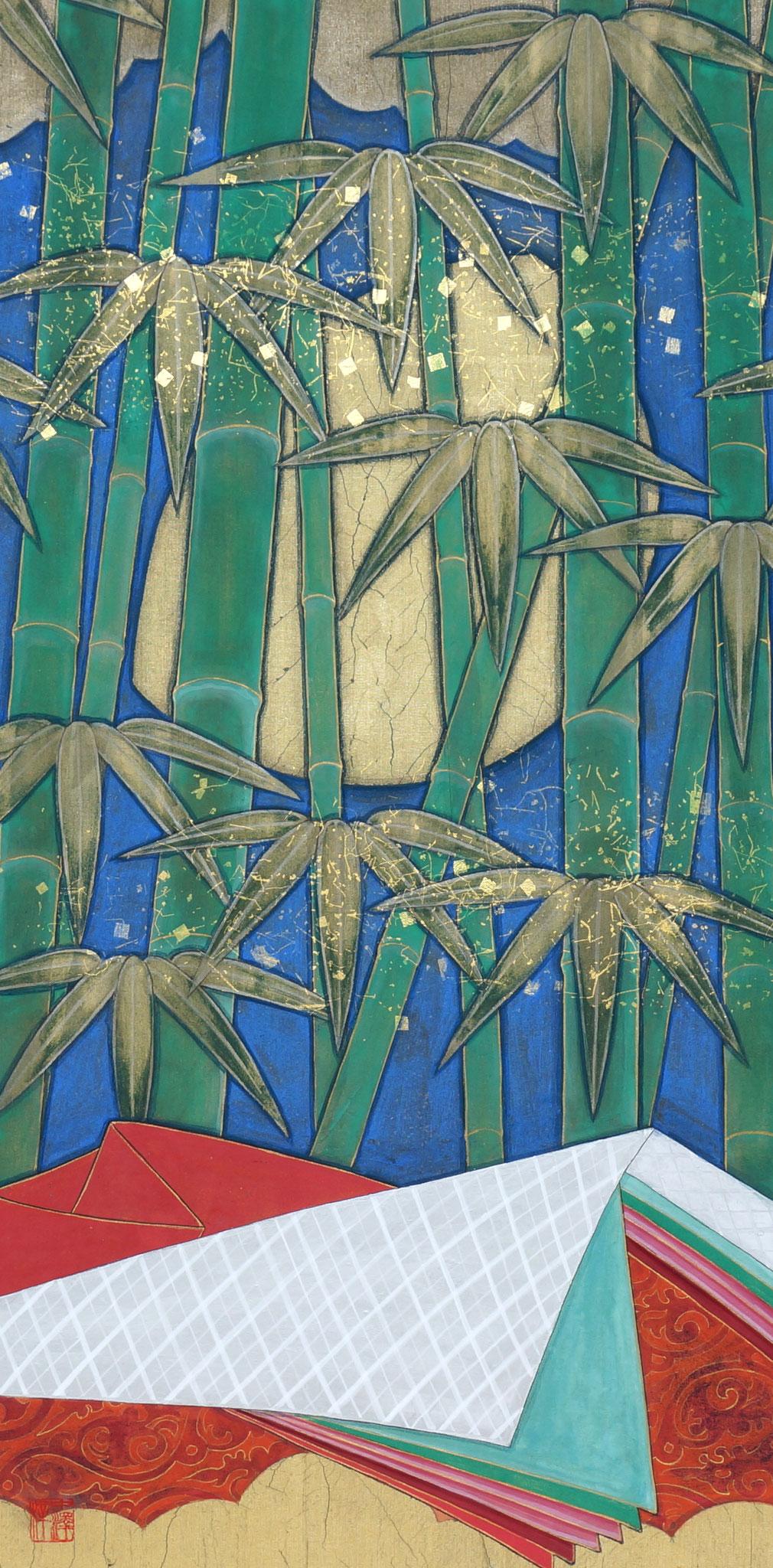 「竹ーTikー」 絹本彩色・箔