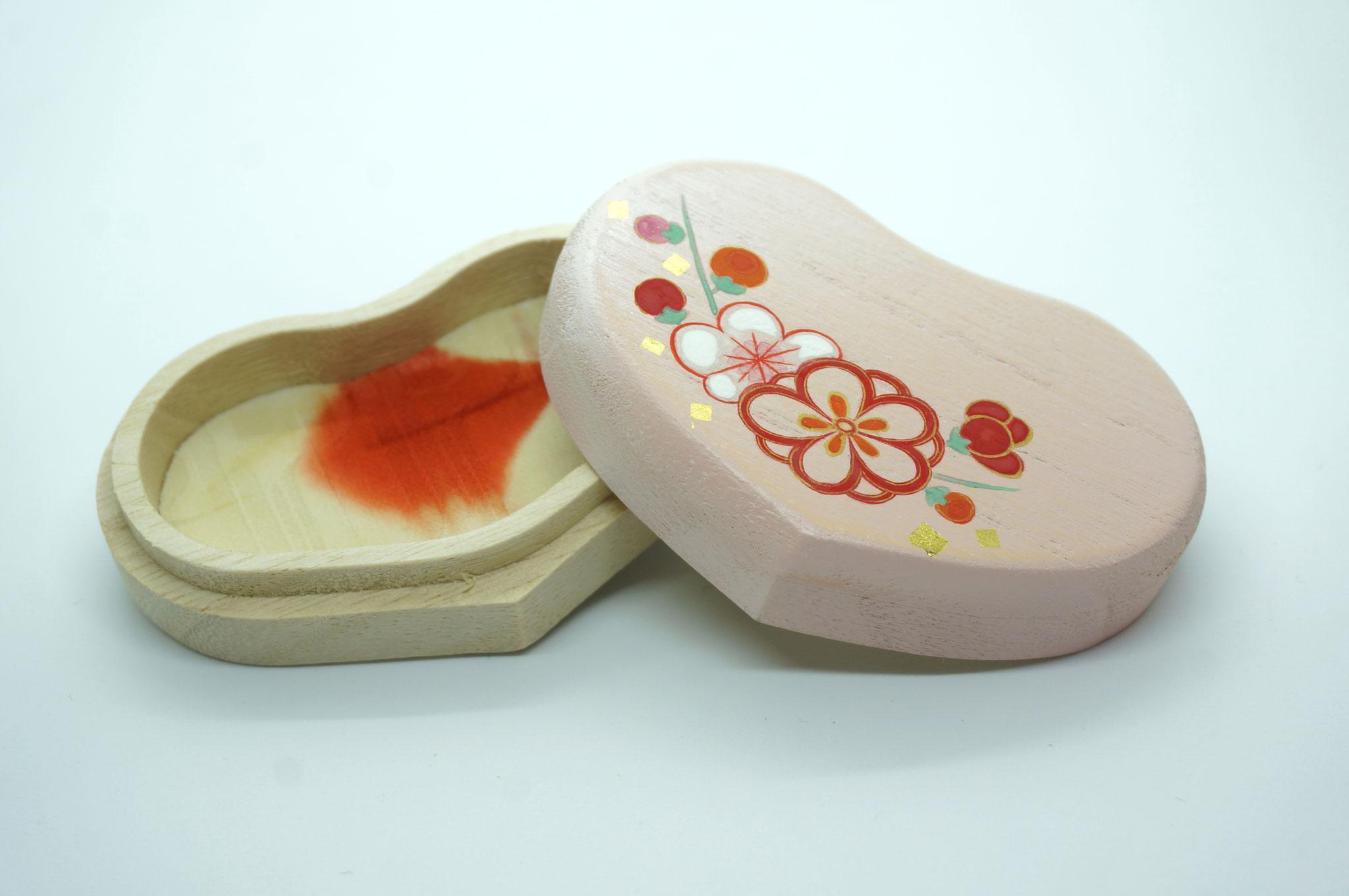 ハート型桐小箱・梅の花