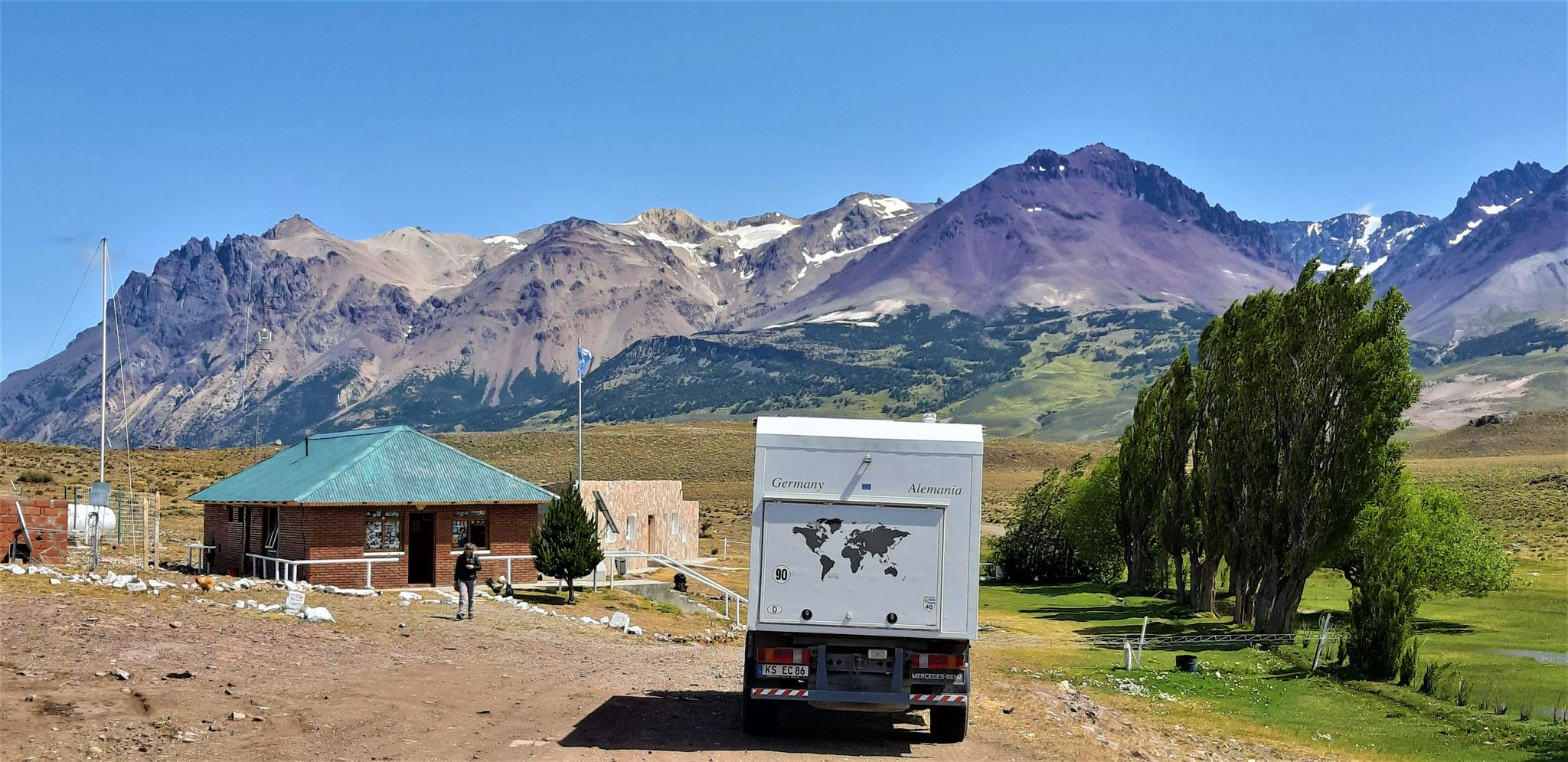 Grenzposten am Paso Roballos