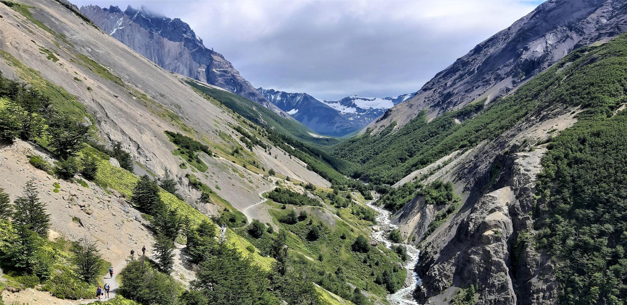 Weg zur Chileno-Hütte