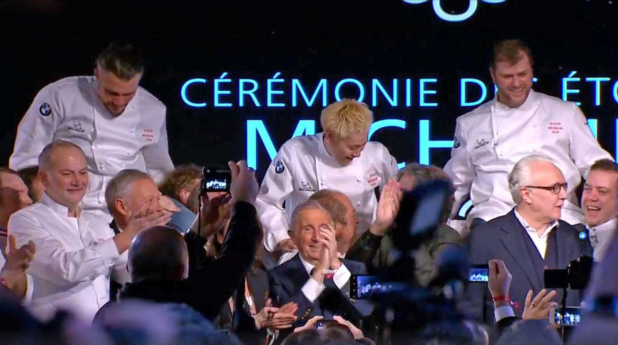 Rassemblements de tous les chefs 3 étoiles  (présents bien sûr !) avec notamment Christian Le Squer, Georges Blanc, Michel Guérard, Alain Ducasse et Arnaud Lallement