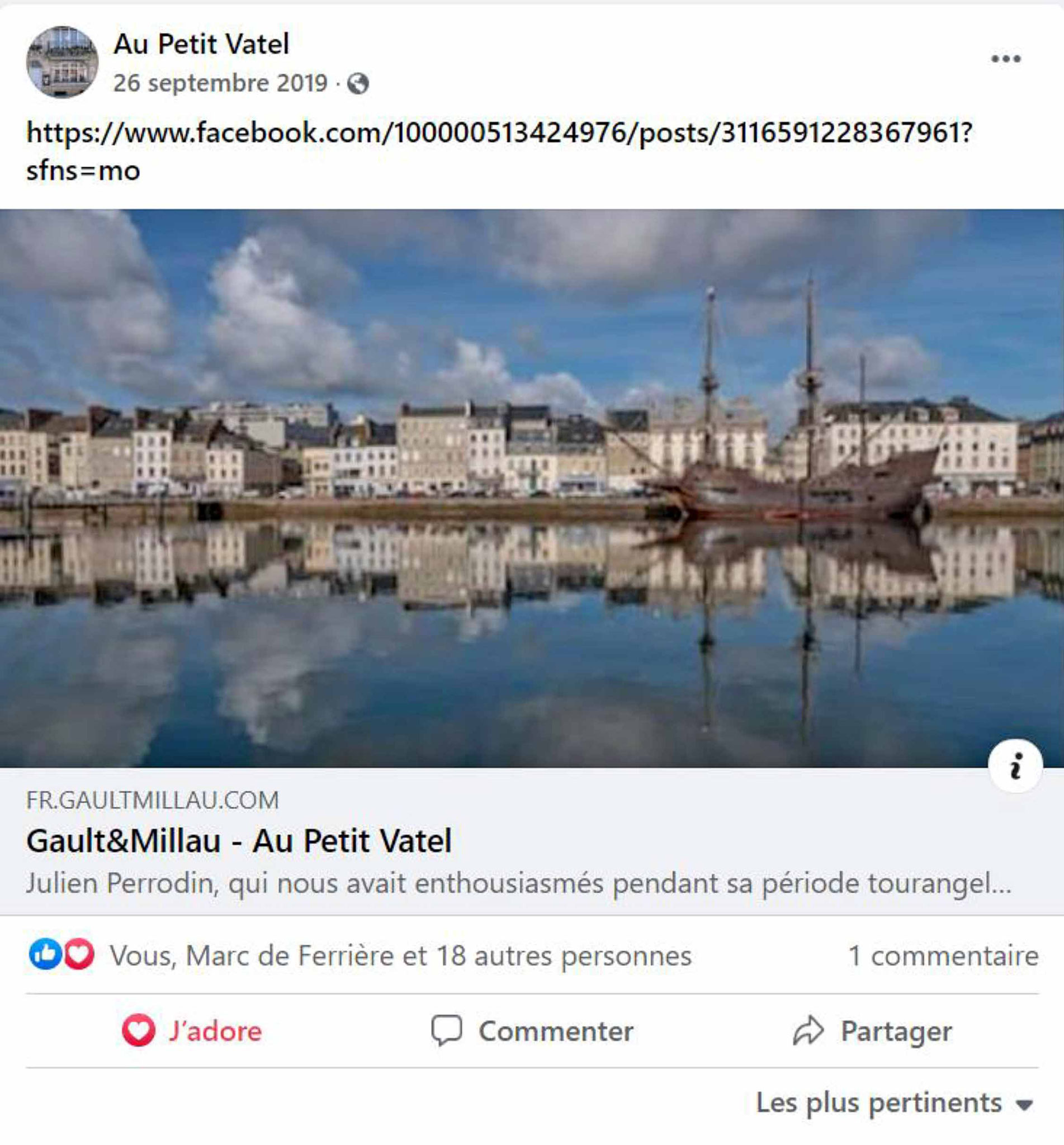 L'article du Gault & Millau