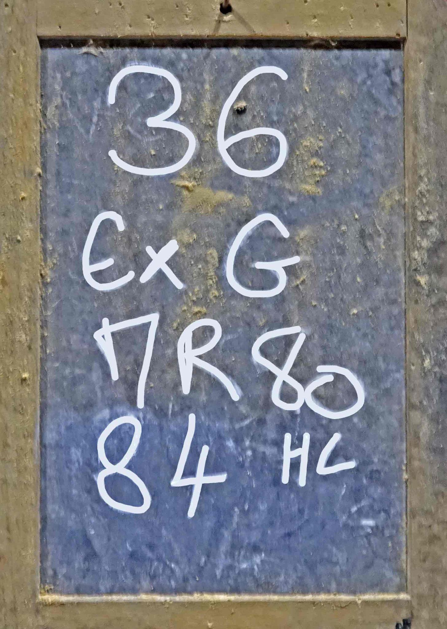 Foudre N°36 dans lequel il reste 84 hl de Maury 1980