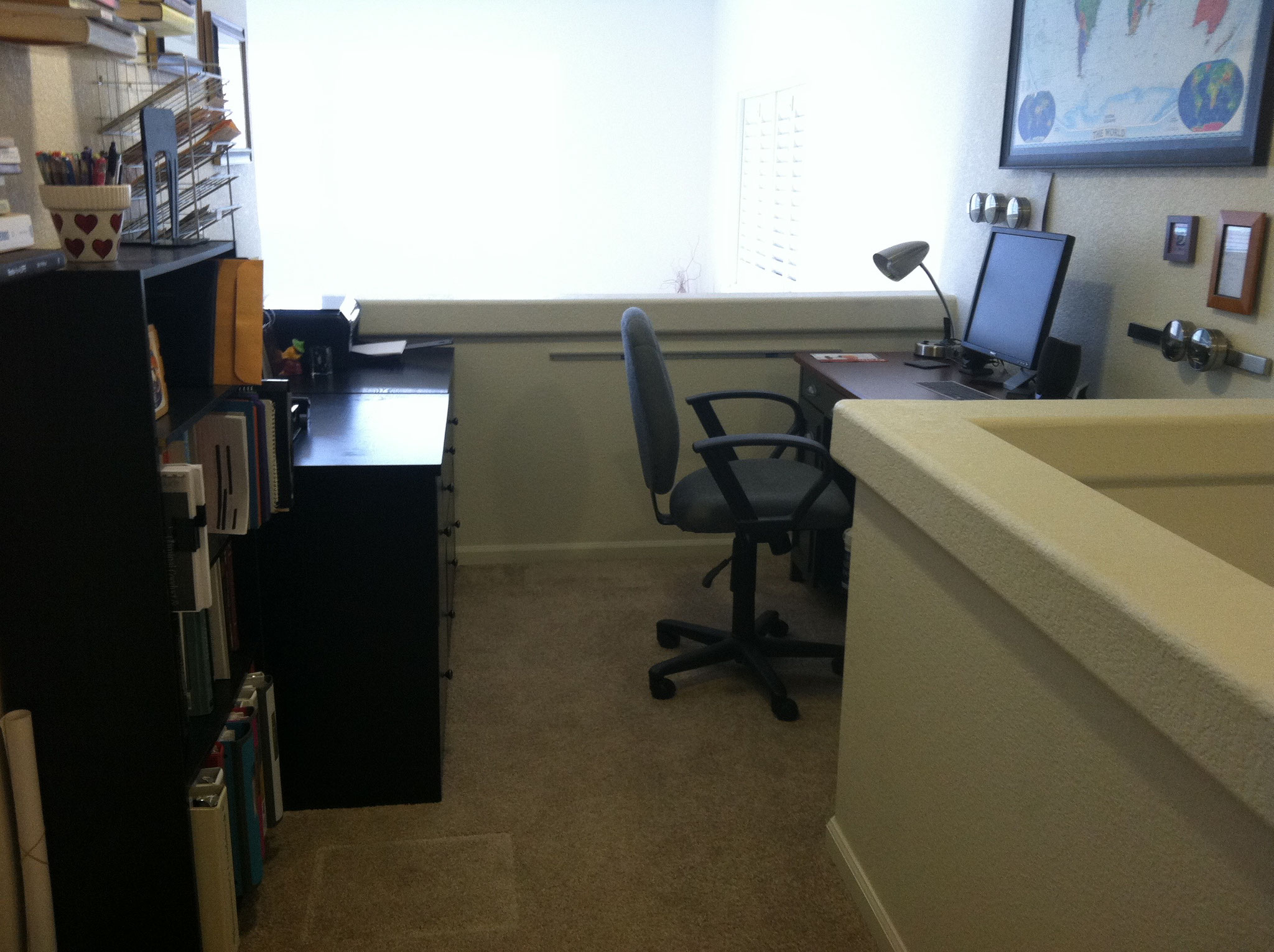 .... and inviting office.
