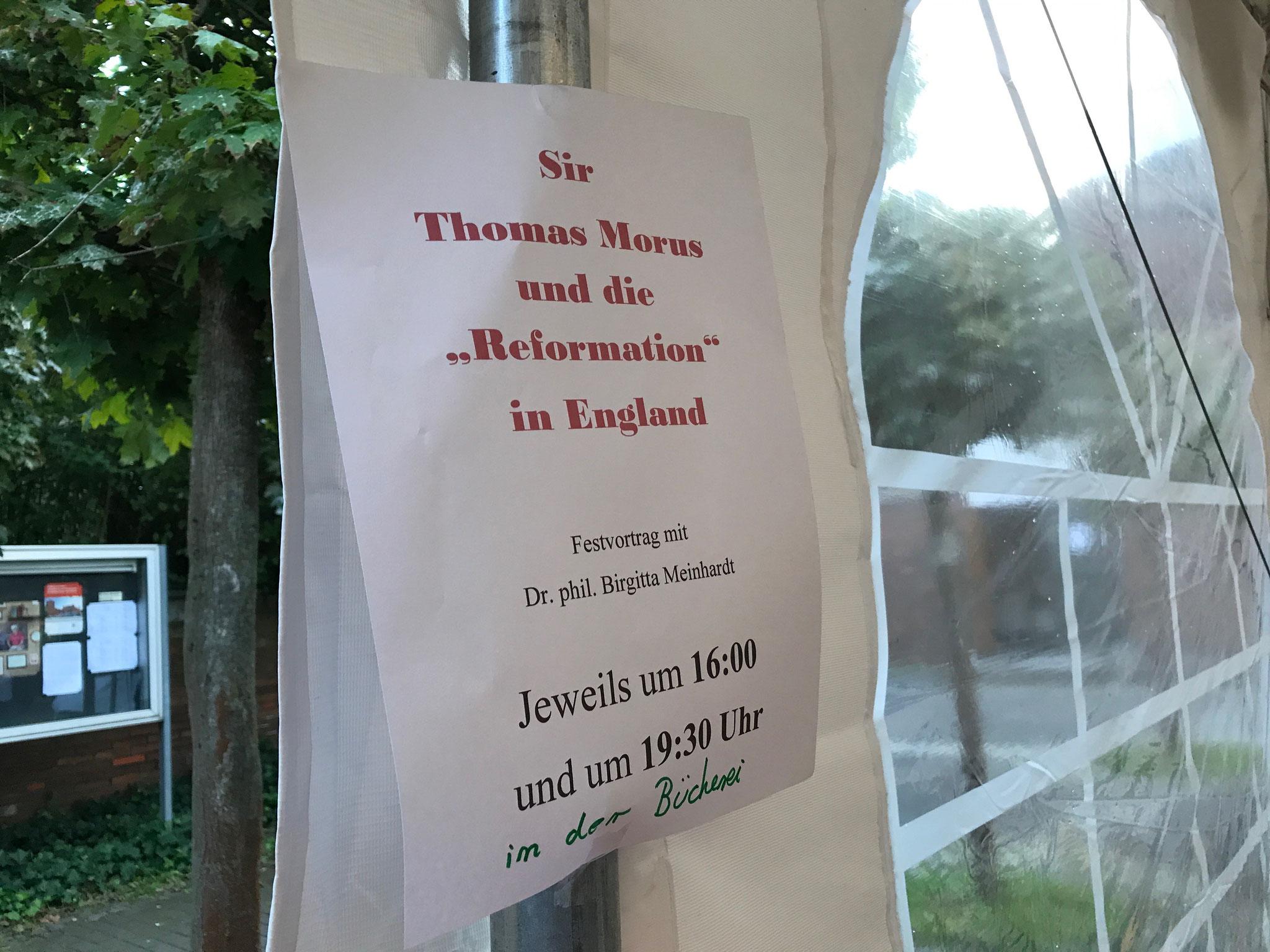 Interessant: Der Festvortrag über die historische Person Thomas Morus // Foto: Gömmer