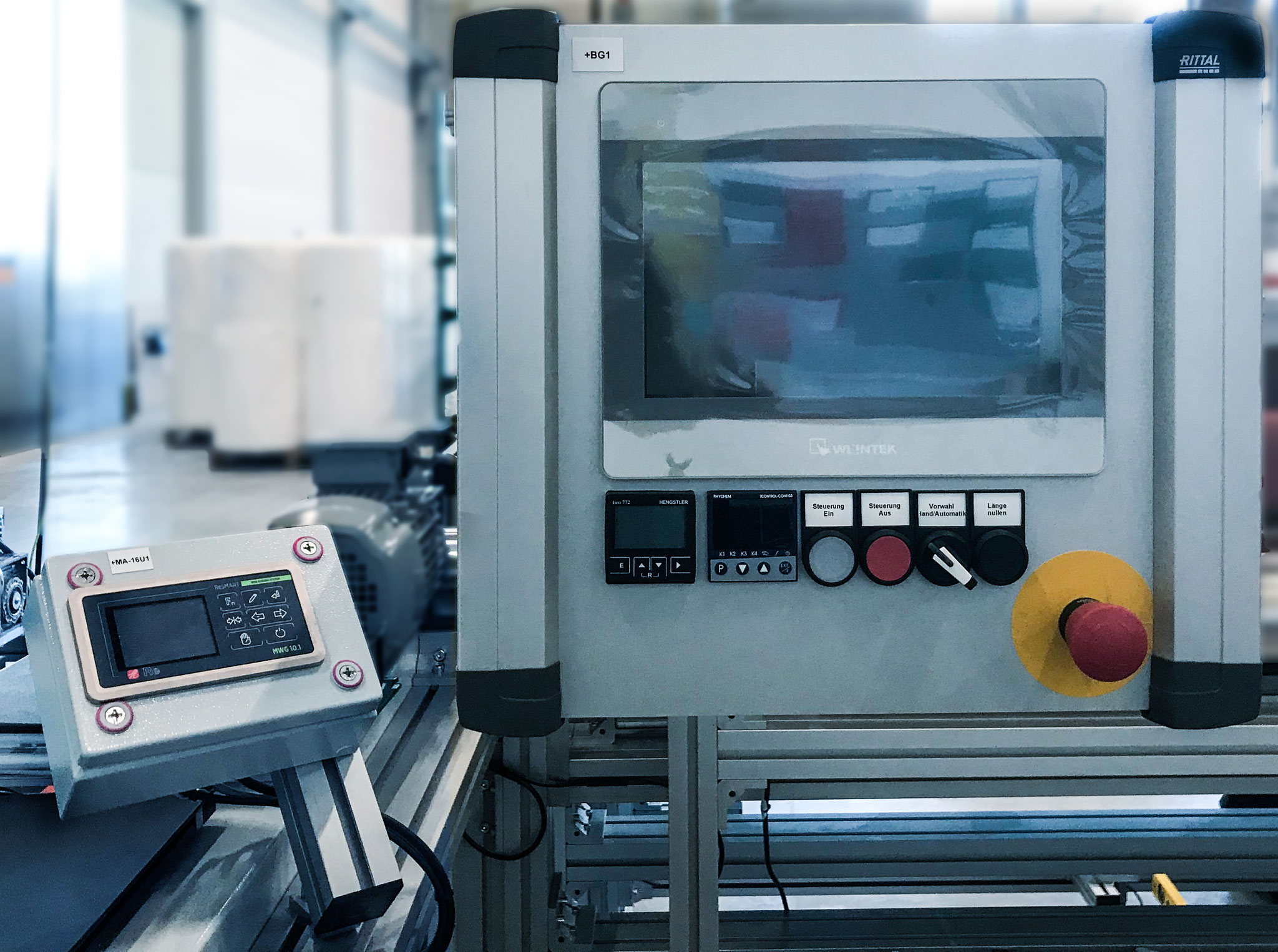 This control and drive system has been specially designed for a foil production process.